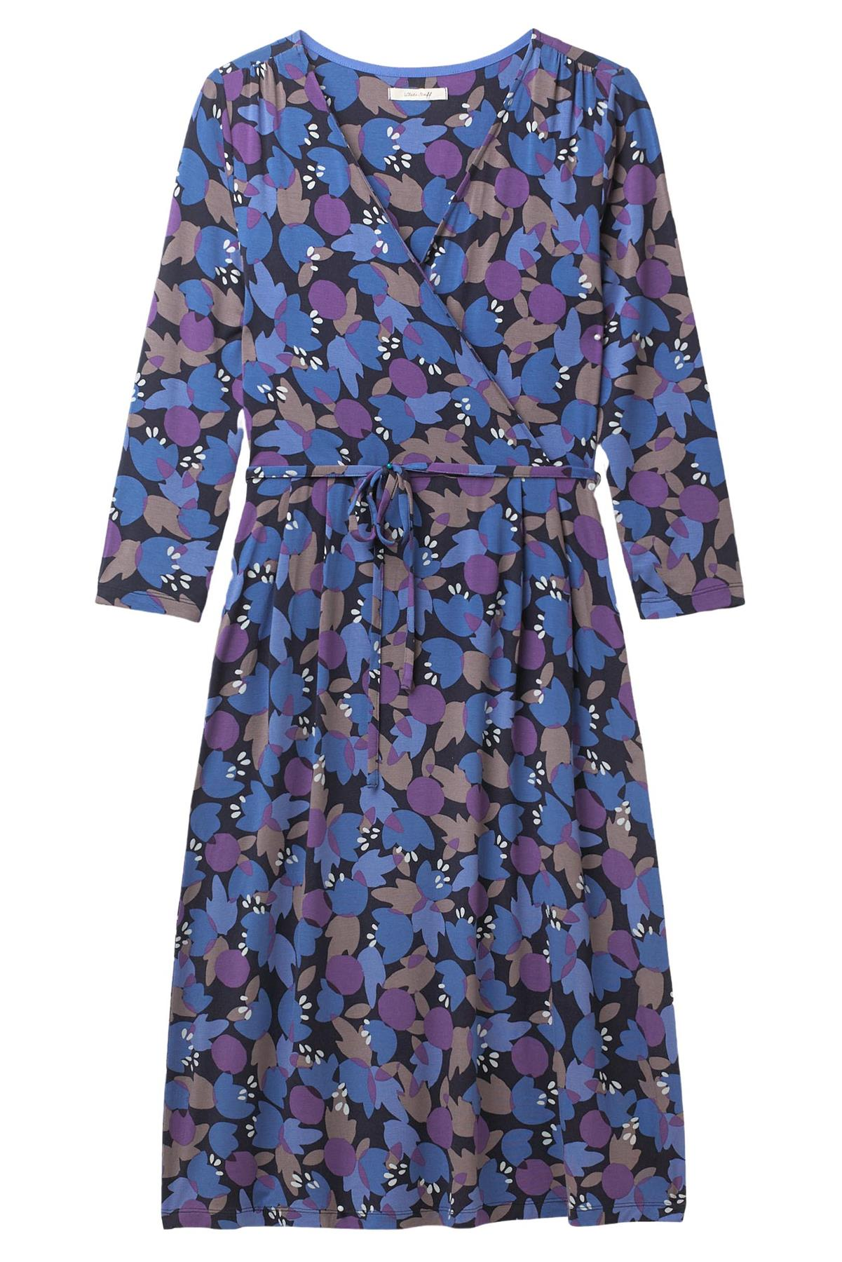 NEW White Stuff Ladies Anet Blue Purple Printed Wrap Dress Szs 8-18 RRP £49.95