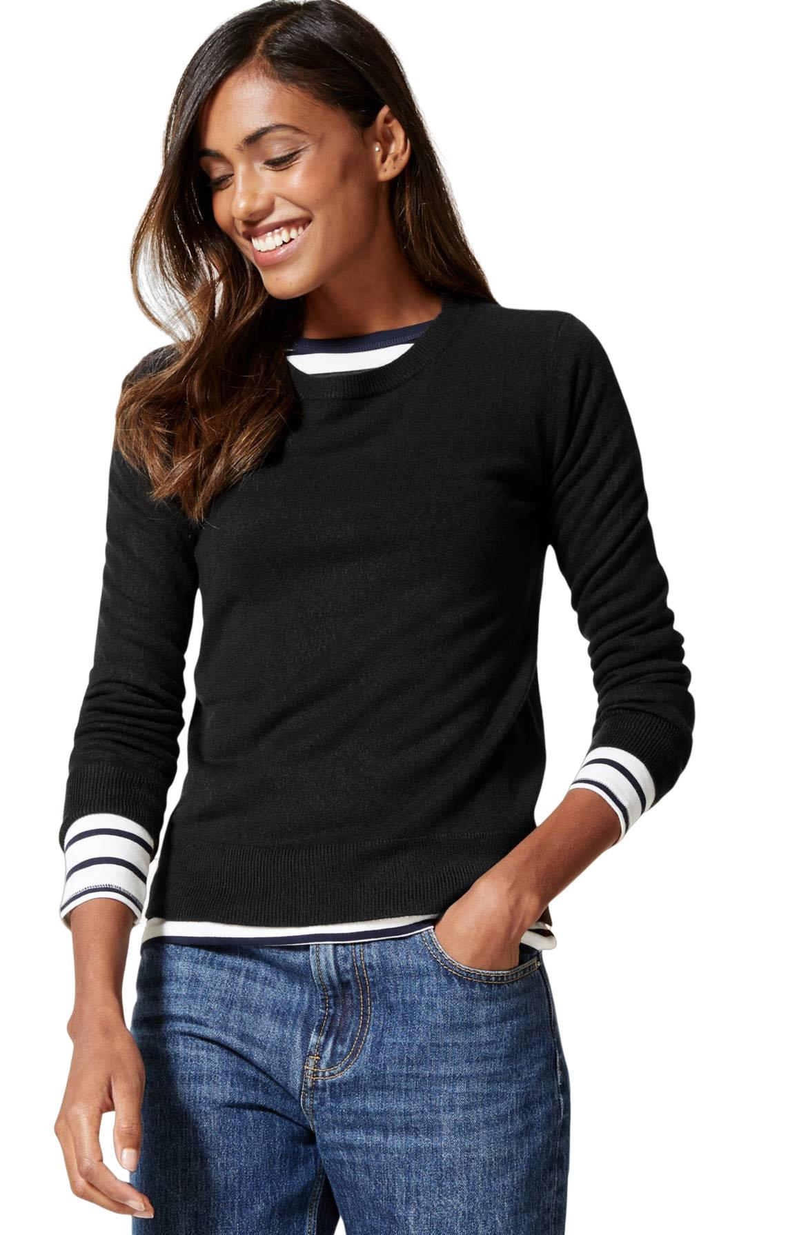 NEW-Ex-M-amp-S-Ladies-Super-Soft-Lightweight-Round-Neck-Summer-Jumper-Size-6-18 thumbnail 7