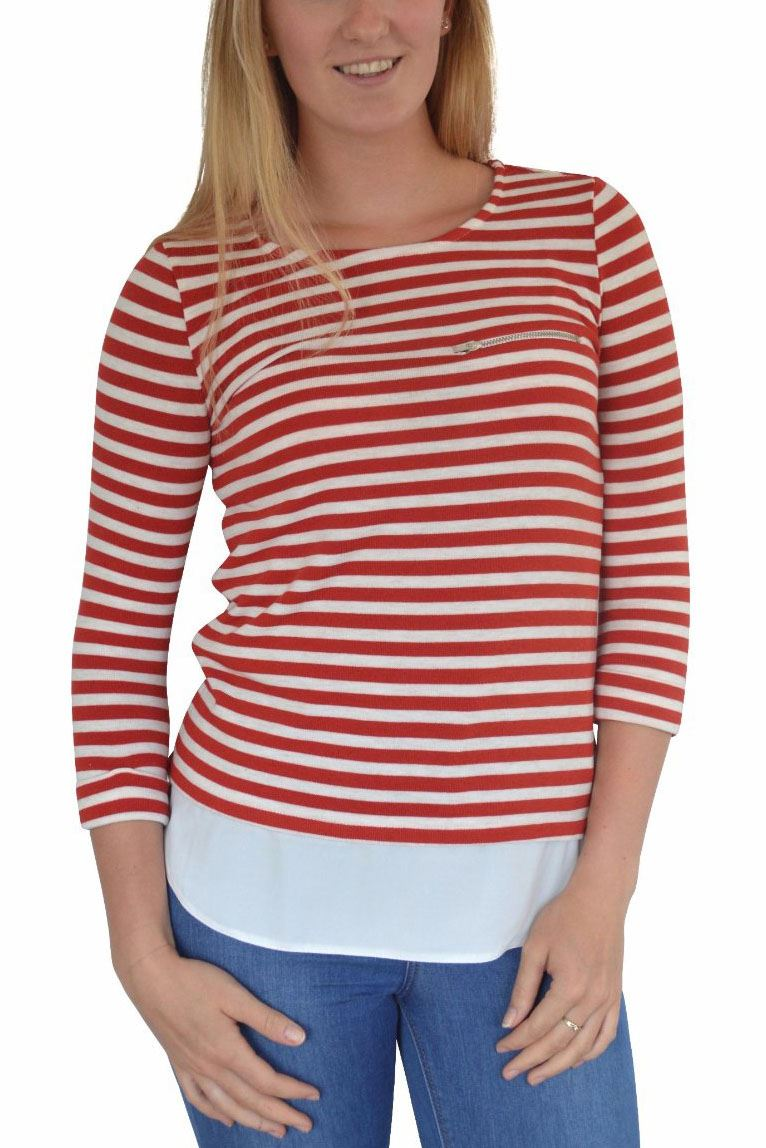 NEW-Ex-Dorothy-Perkins-Stripe-Jersey-Henley-Top-Mock-Layered-Tunic-Size-8-18 thumbnail 13