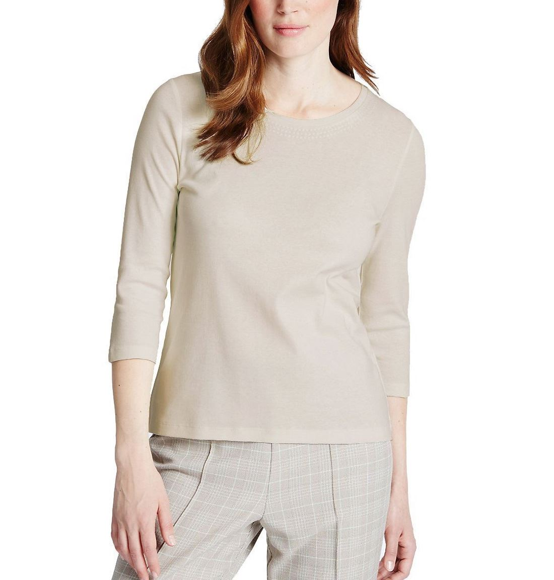 NEW-Ex-M-amp-S-Scoop-Neck-Long-Sleeve-Jersey-Top-Triple-Stitch-Neck-Sizes-8-24 thumbnail 14