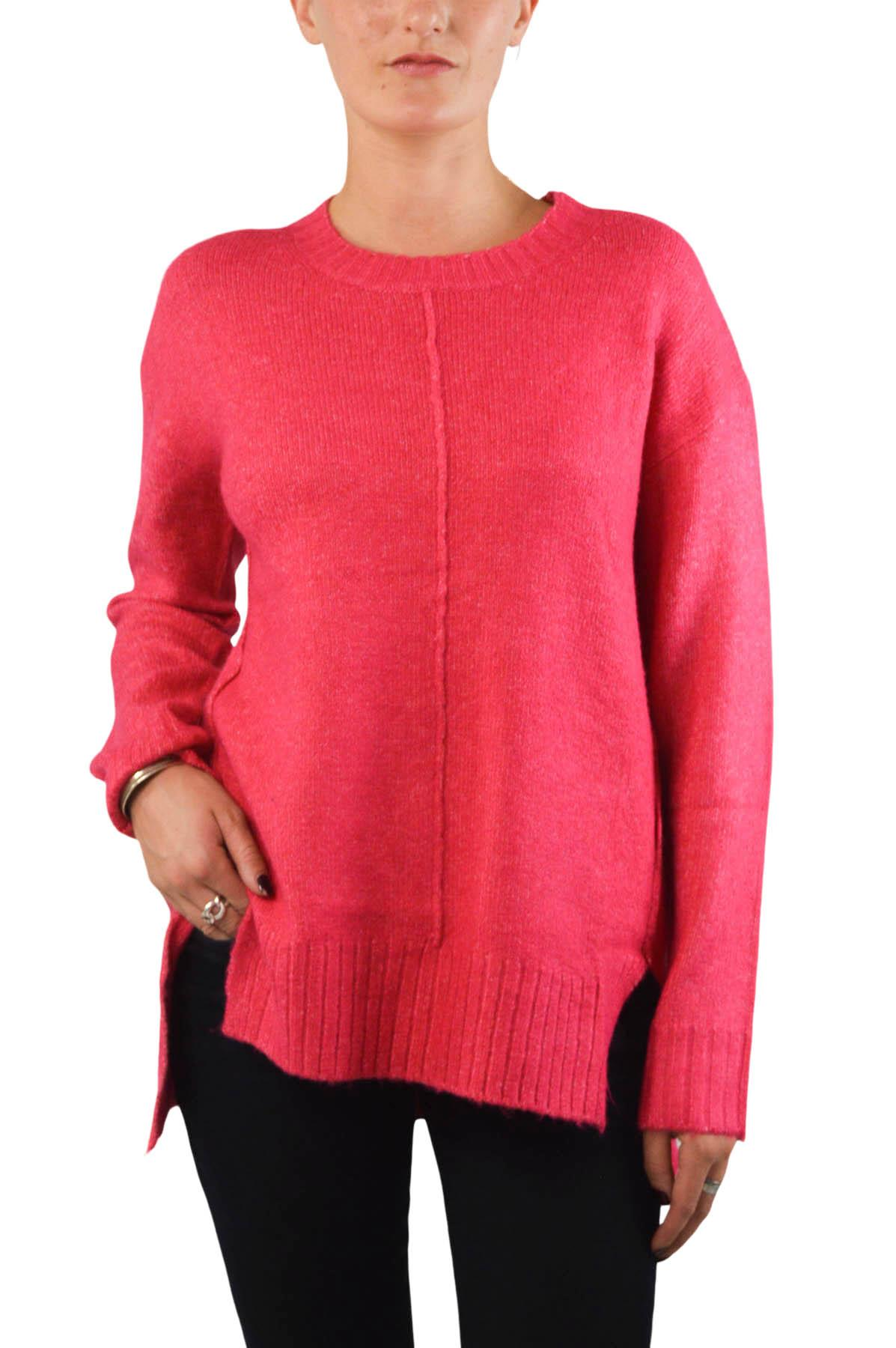 NEW-Ex-M-amp-S-Collection-Ladies-Relaxed-Fit-Round-Neck-Jumper-Pink-Purple-Ochre thumbnail 3