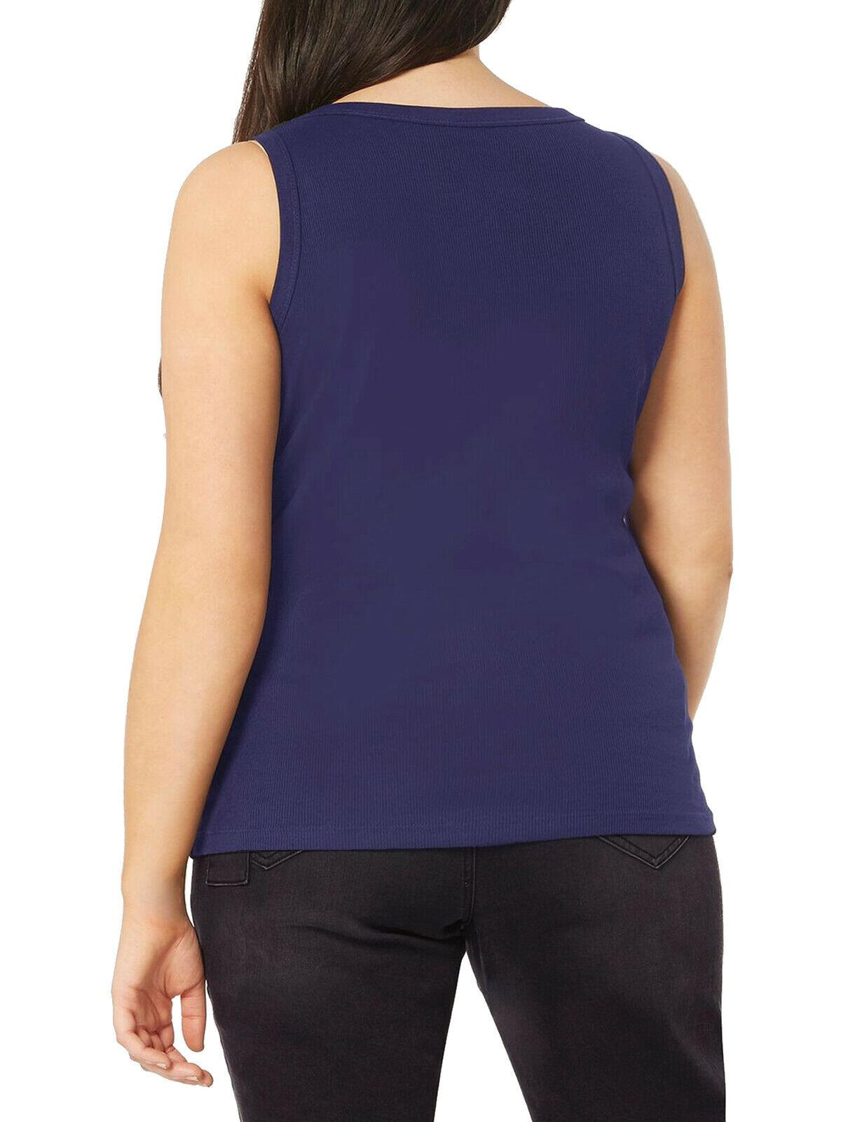 Ex-Evans-Ladies-Womens-Ribbed-Vest-Top-Casual-Size-14-32-All-Cols thumbnail 18