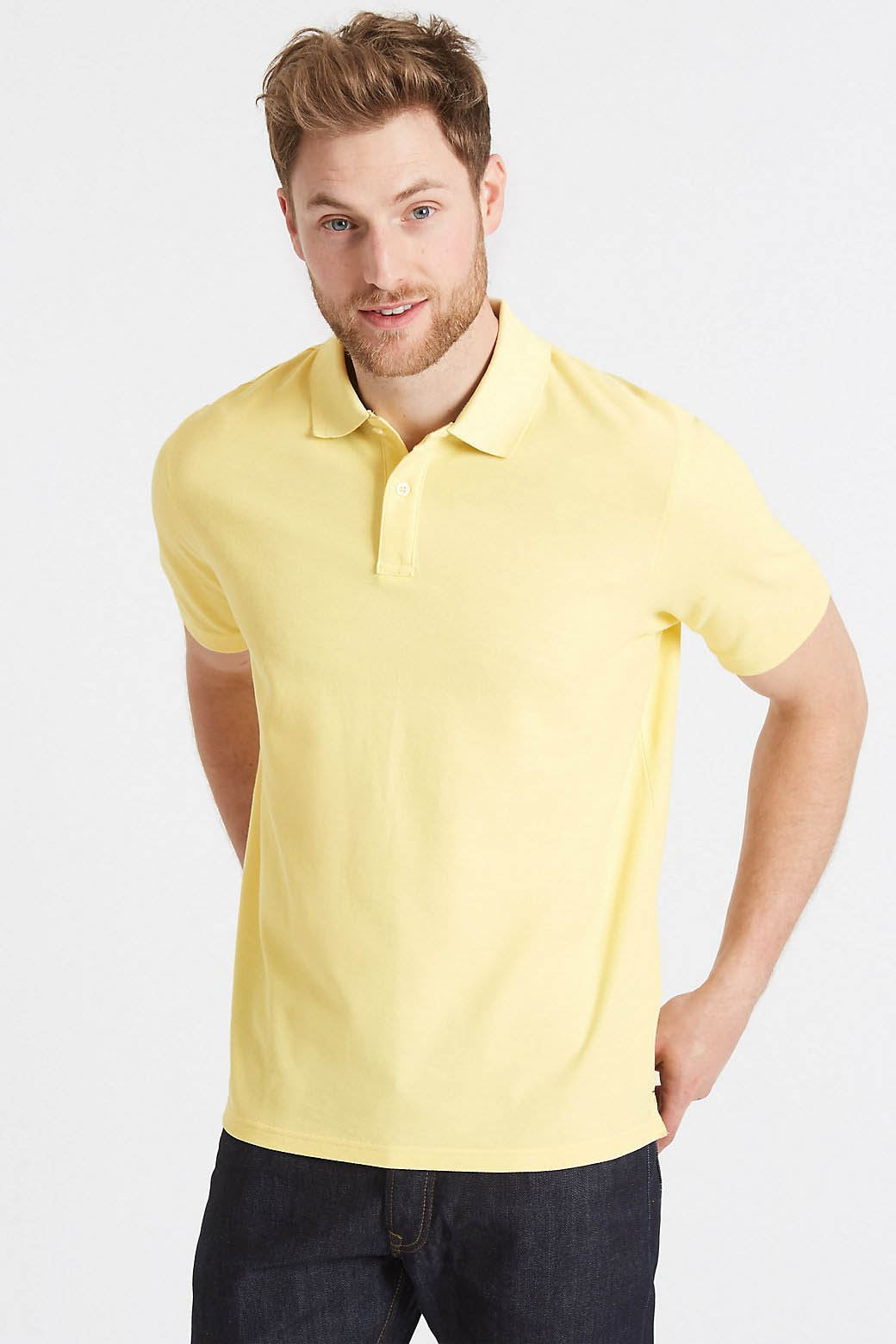 MARKS-amp-SPENCER-Mens-Classic-Cotton-Polo-Shirt-M-amp-S-All-Colours-and-Large-Sizes thumbnail 27