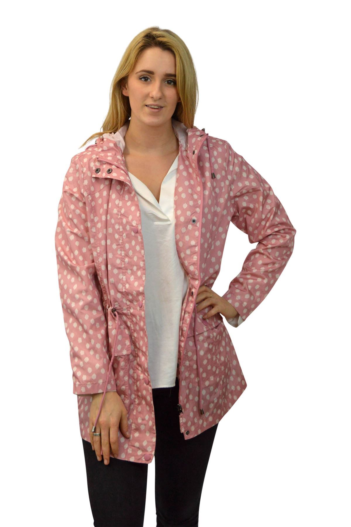 New Womens Rain Mac Anorak Shower Resistant Ex BHS Blue Pink Sizes 10 12 14