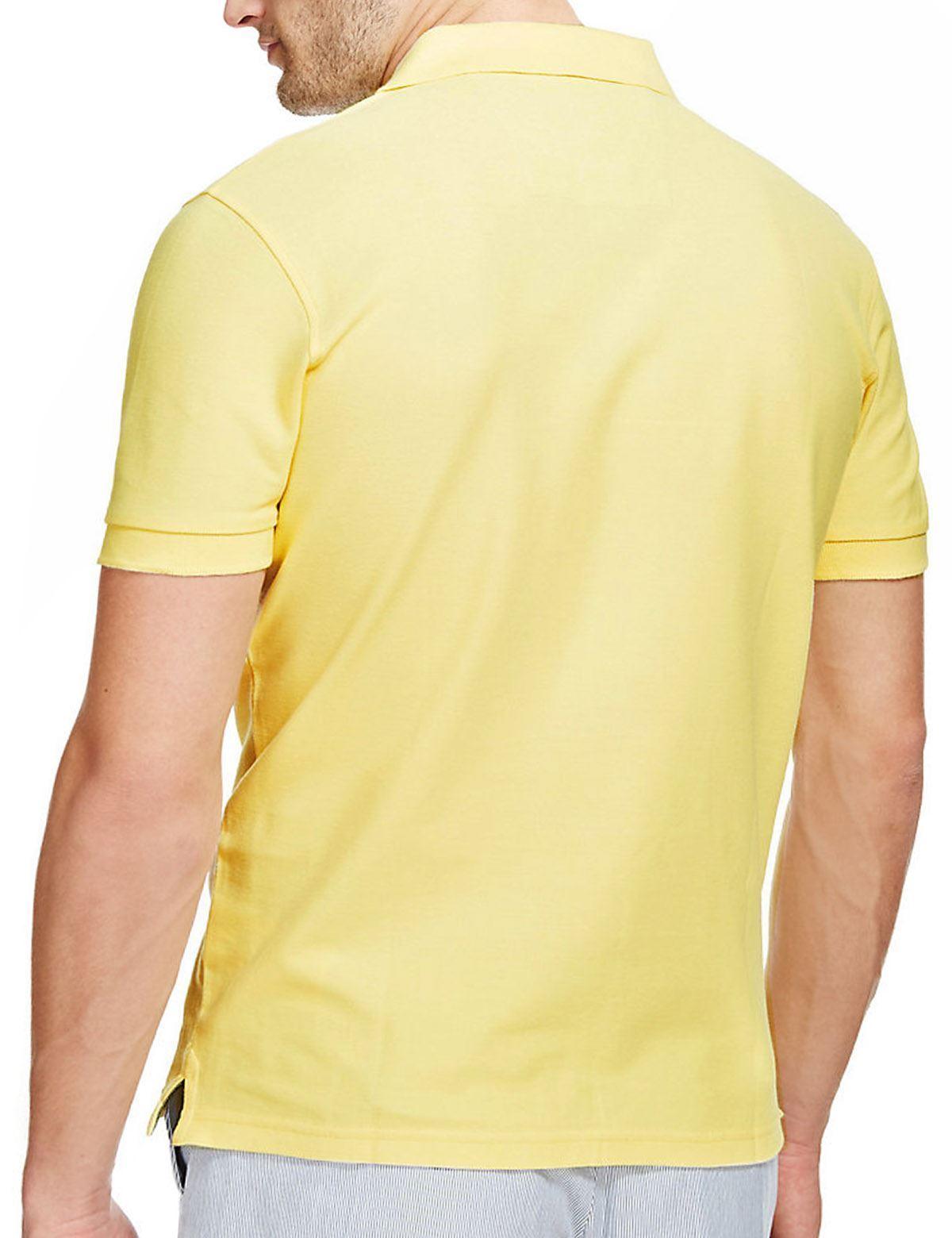 Ex-M-amp-S-Mens-Cotton-Polo-Shirt-Marks-amp-Spencer-Blue-Harbour-Size-S-M thumbnail 12