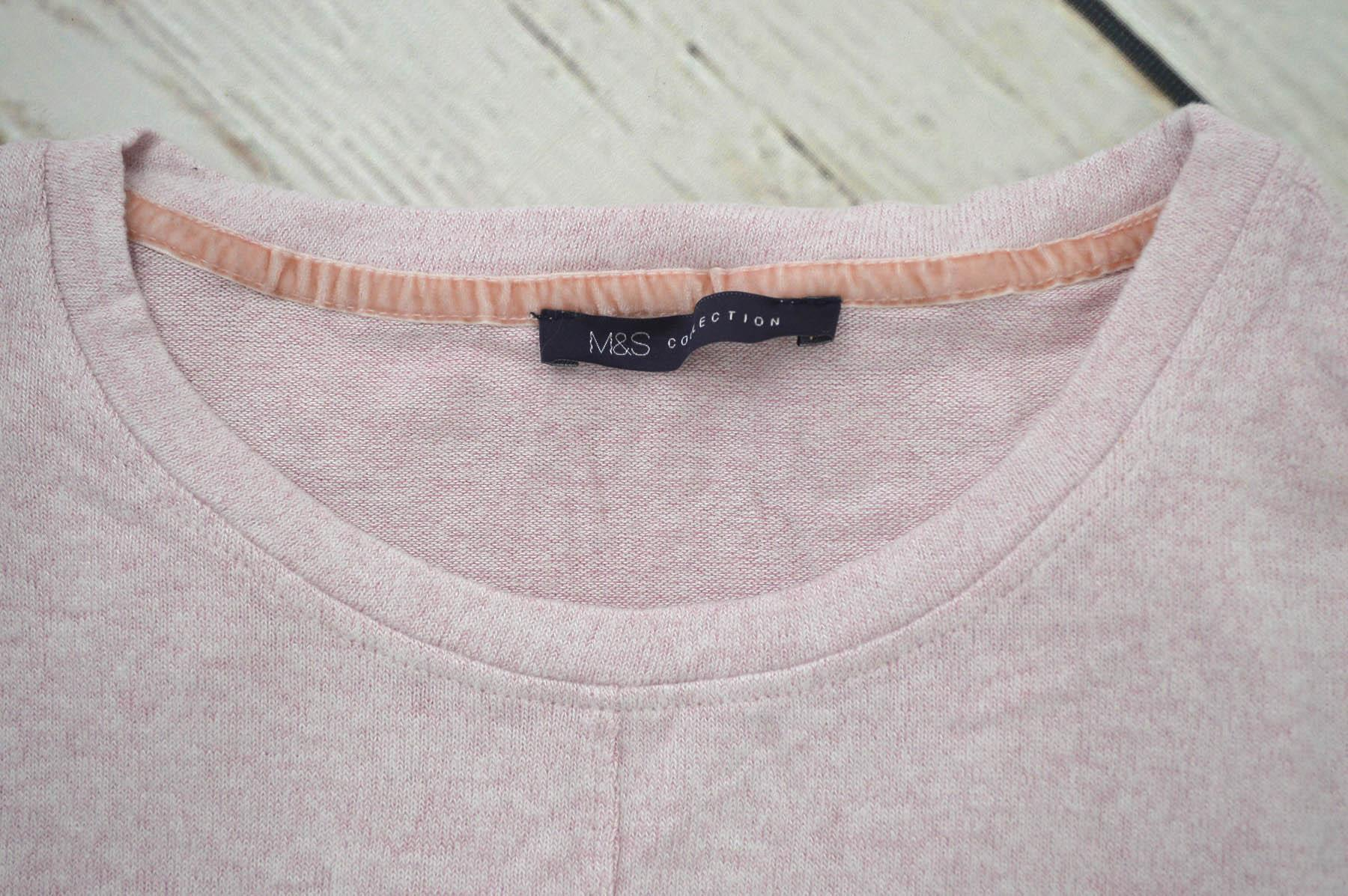 Ex-M-amp-S-Round-Neck-Fine-Knit-Short-Sleeve-Jumper-Top-Pale-Pink-or-Navy-Size-8-24 thumbnail 15
