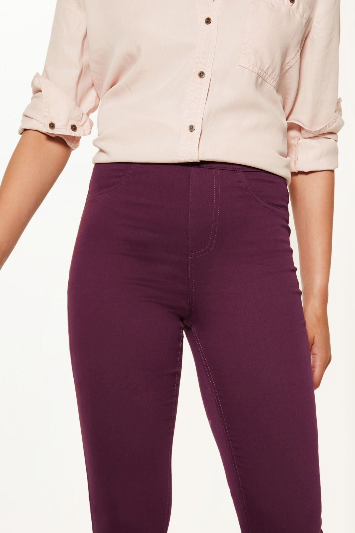 NEW-Ex-M-amp-S-Womens-Stretch-Fit-High-Waist-Skinny-Jeggings-Size-8-10-12-14-16-18 thumbnail 22