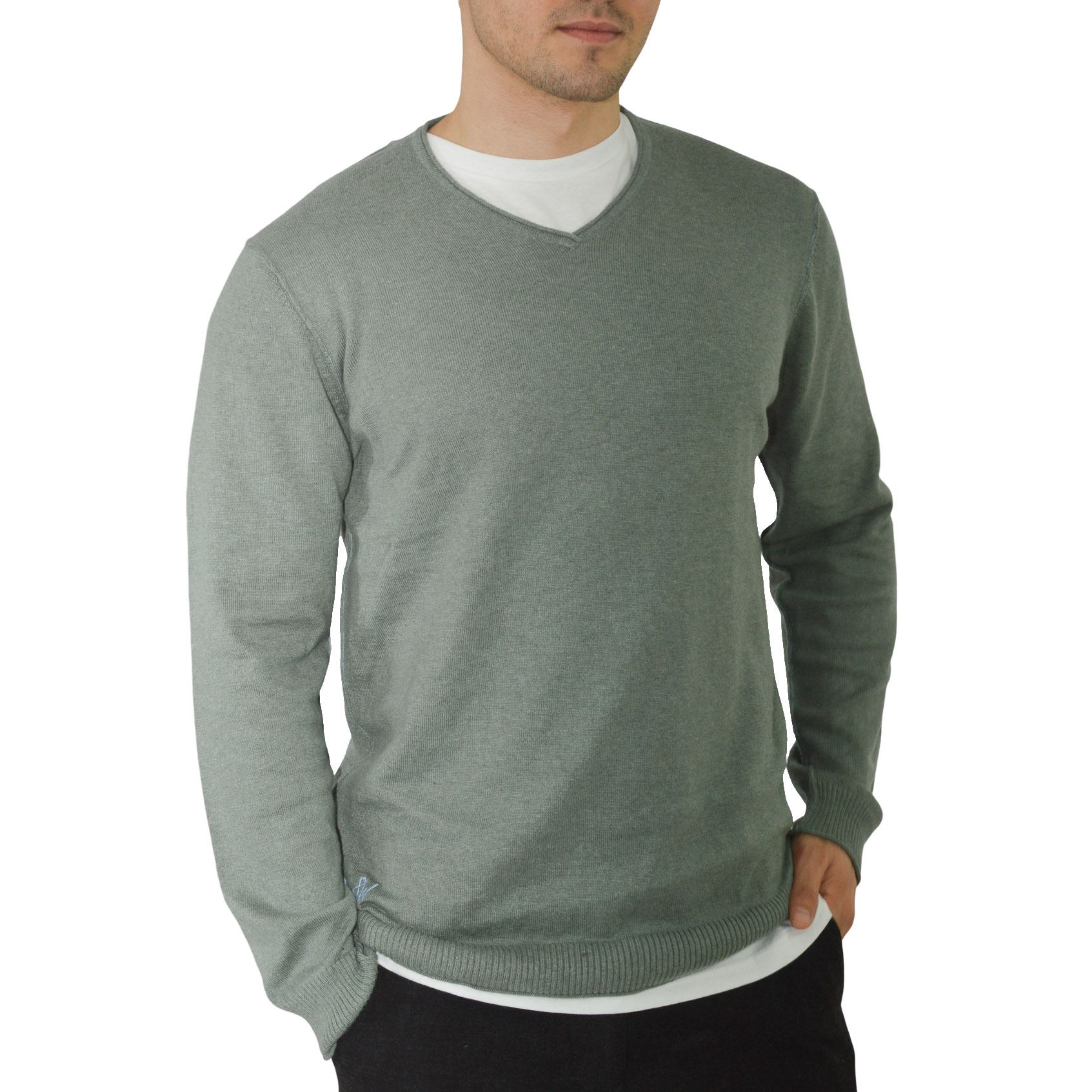 Ex-White-Stuff-Mens-Soft-Cotton-Cashmere-V-Neck-Jumper-Exposed-Seams-Sizes-S-2XL 縮圖 13