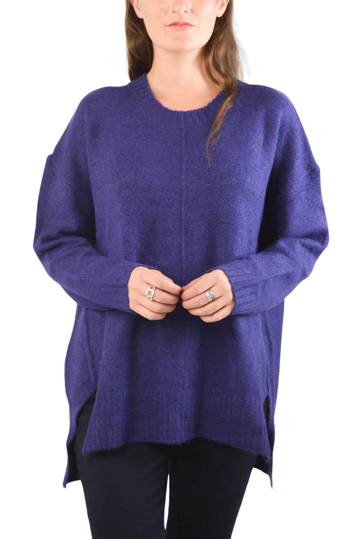 NEW-Ex-M-amp-S-Collection-Ladies-Relaxed-Fit-Round-Neck-Jumper-Pink-Purple-Ochre thumbnail 7
