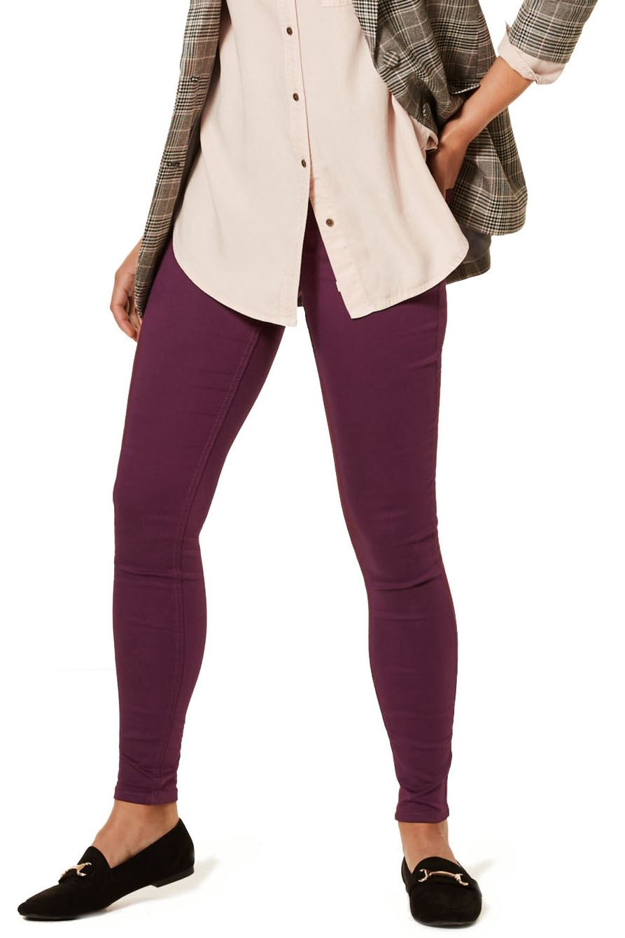 NEW-Ex-M-amp-S-Womens-Stretch-Fit-High-Waist-Skinny-Jeggings-Size-8-10-12-14-16-18 thumbnail 19