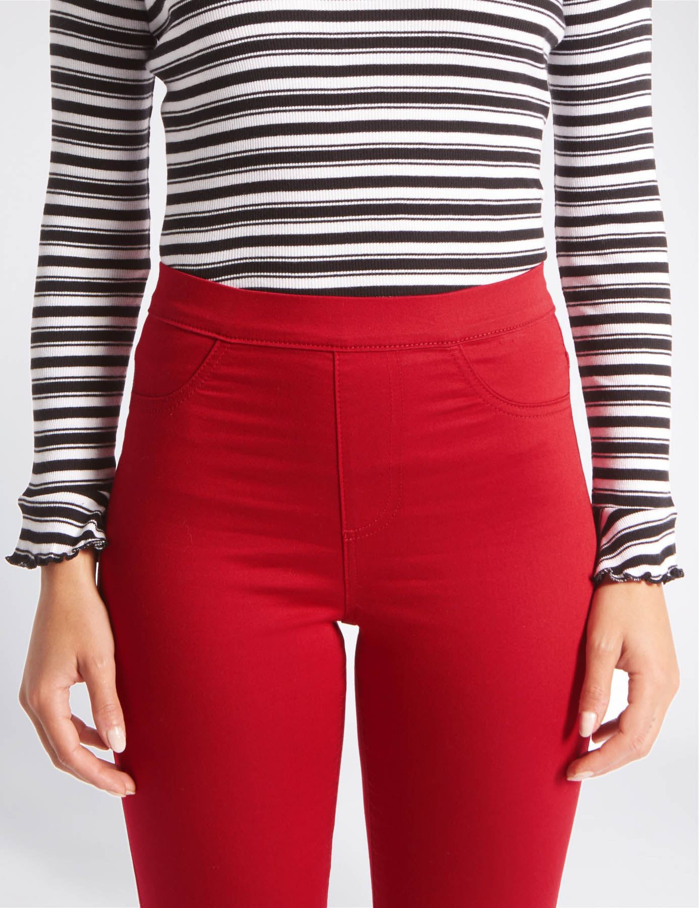 NEW-Ex-M-amp-S-Womens-Stretch-Fit-High-Waist-Skinny-Jeggings-Size-8-10-12-14-16-18 thumbnail 16