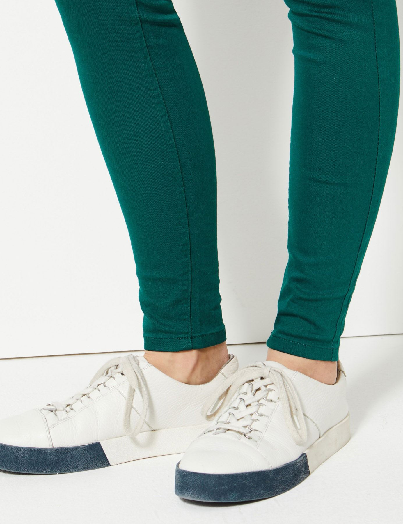 NEW-Ex-M-amp-S-Womens-Stretch-Fit-High-Waist-Skinny-Jeggings-Size-8-10-12-14-16-18 thumbnail 5