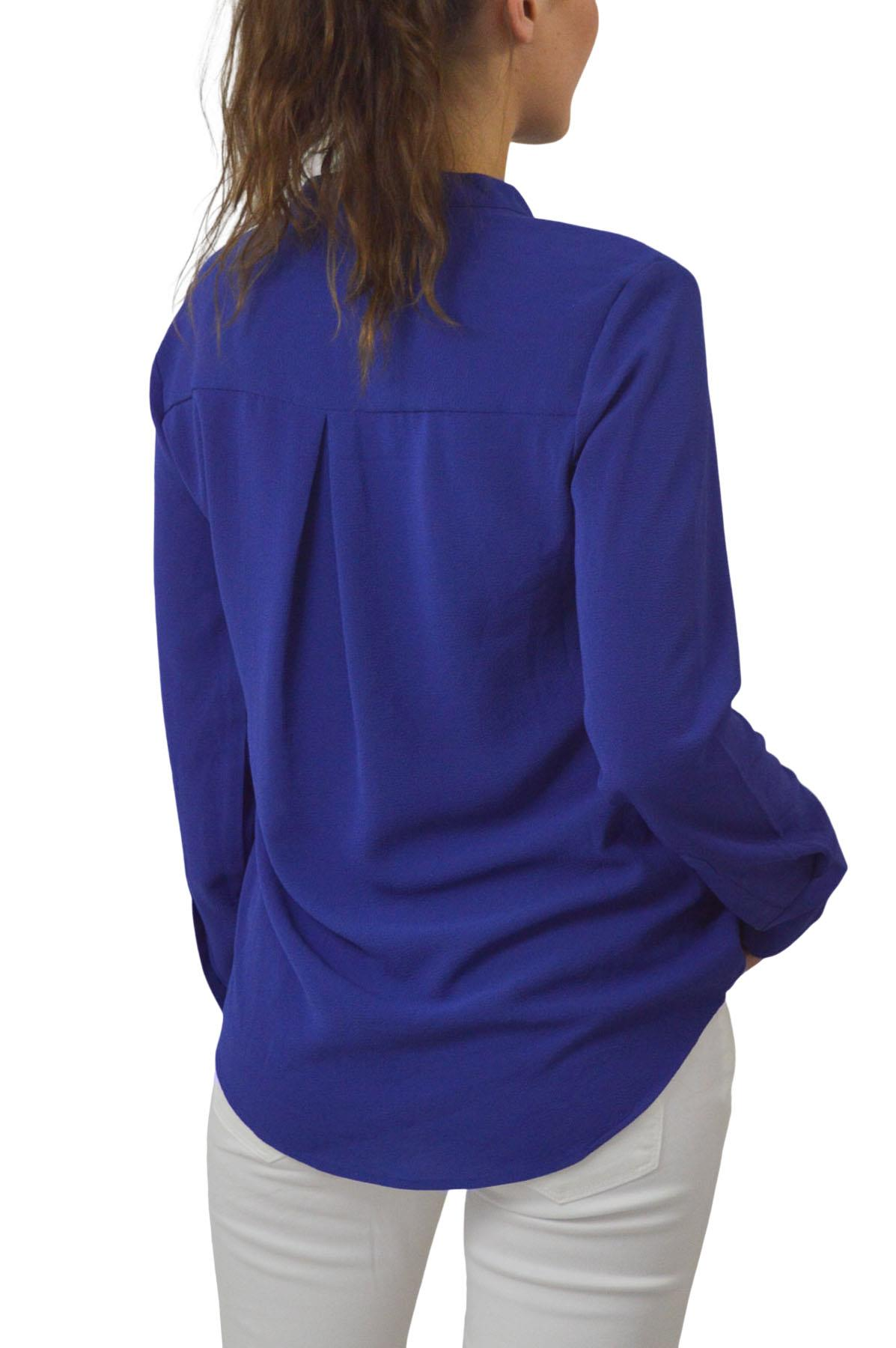 NEW-Ex-M-amp-S-Ladies-Long-Sleeve-V-Neck-Crepe-Tunic-Office-Blouse-Size-6-18 thumbnail 11
