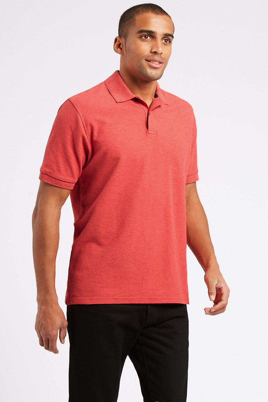 Ex-Marks-and-Spencer-Mens-Cotton-Pique-Polo-Shirt-NEW-Sizes-S-3XL thumbnail 18