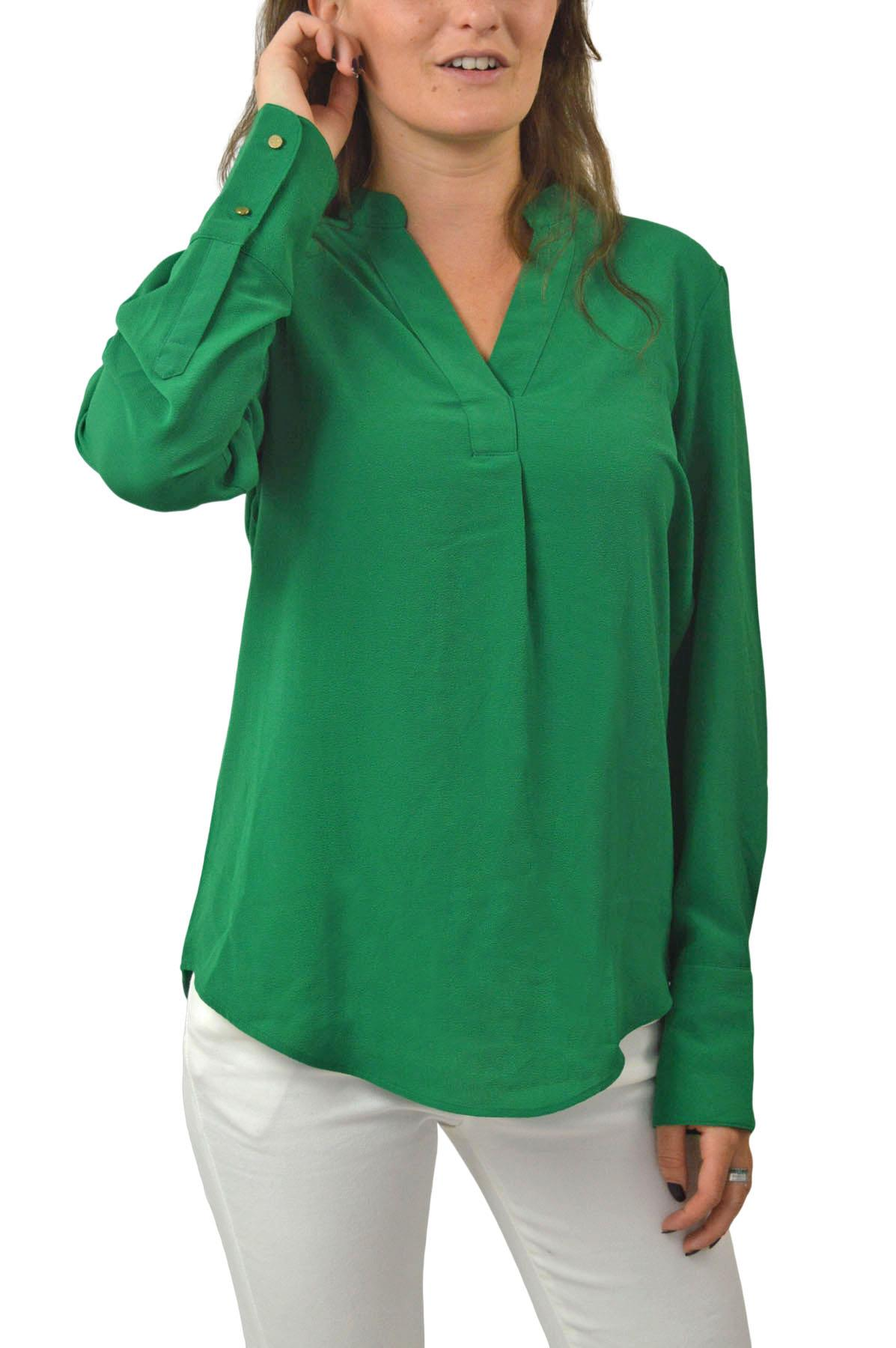 NEW-Ex-M-amp-S-Ladies-Long-Sleeve-V-Neck-Crepe-Tunic-Office-Blouse-Size-6-18 thumbnail 6