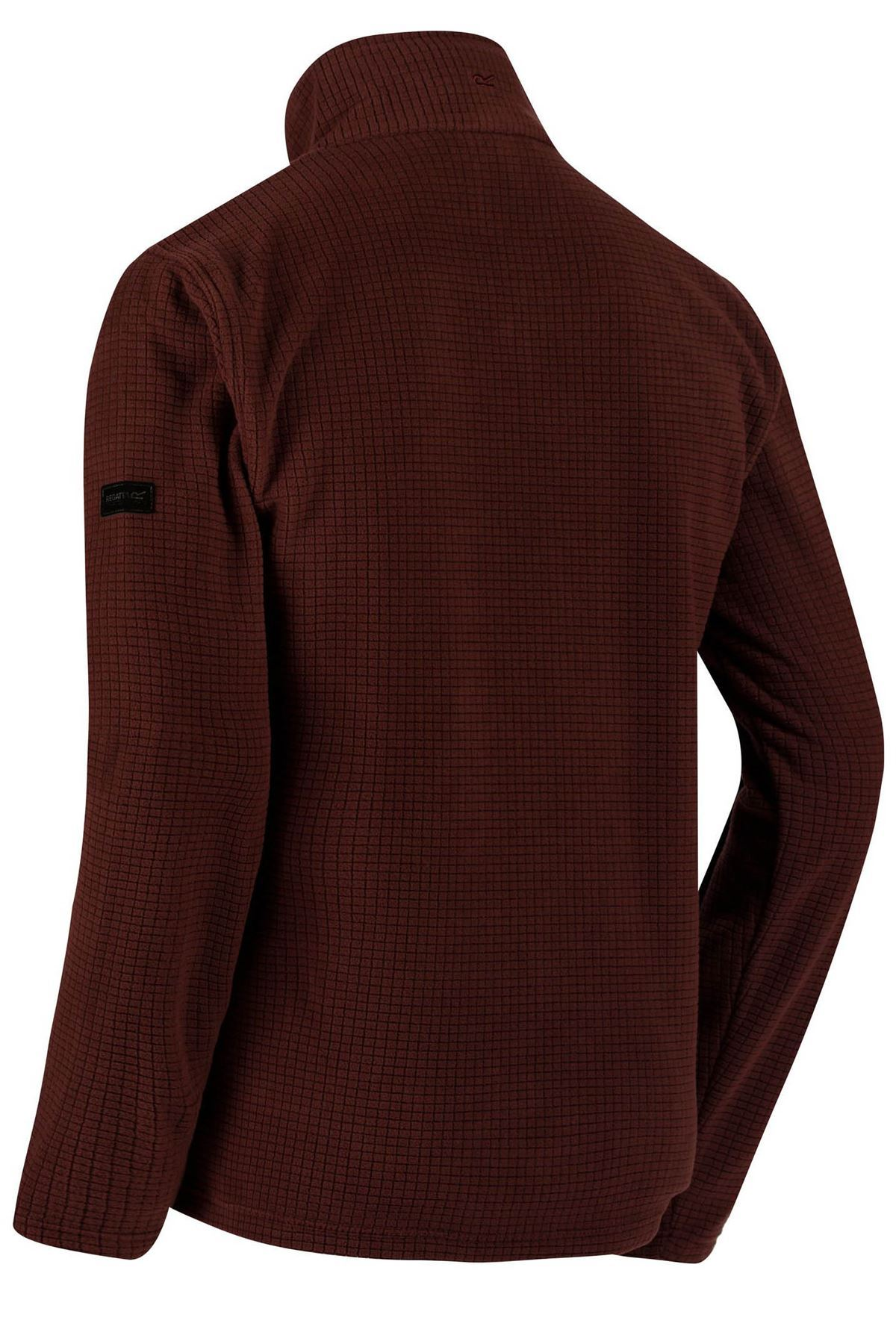 Regatta-Elgon-II-Hombre-rejilla-textura-Fleece-Half-Zip-Verde-Azul-Negro-Borgona