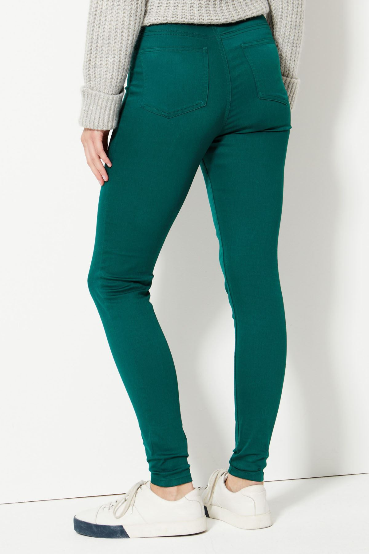 NEW-Ex-M-amp-S-Womens-Stretch-Fit-High-Waist-Skinny-Jeggings-Size-8-10-12-14-16-18 thumbnail 4
