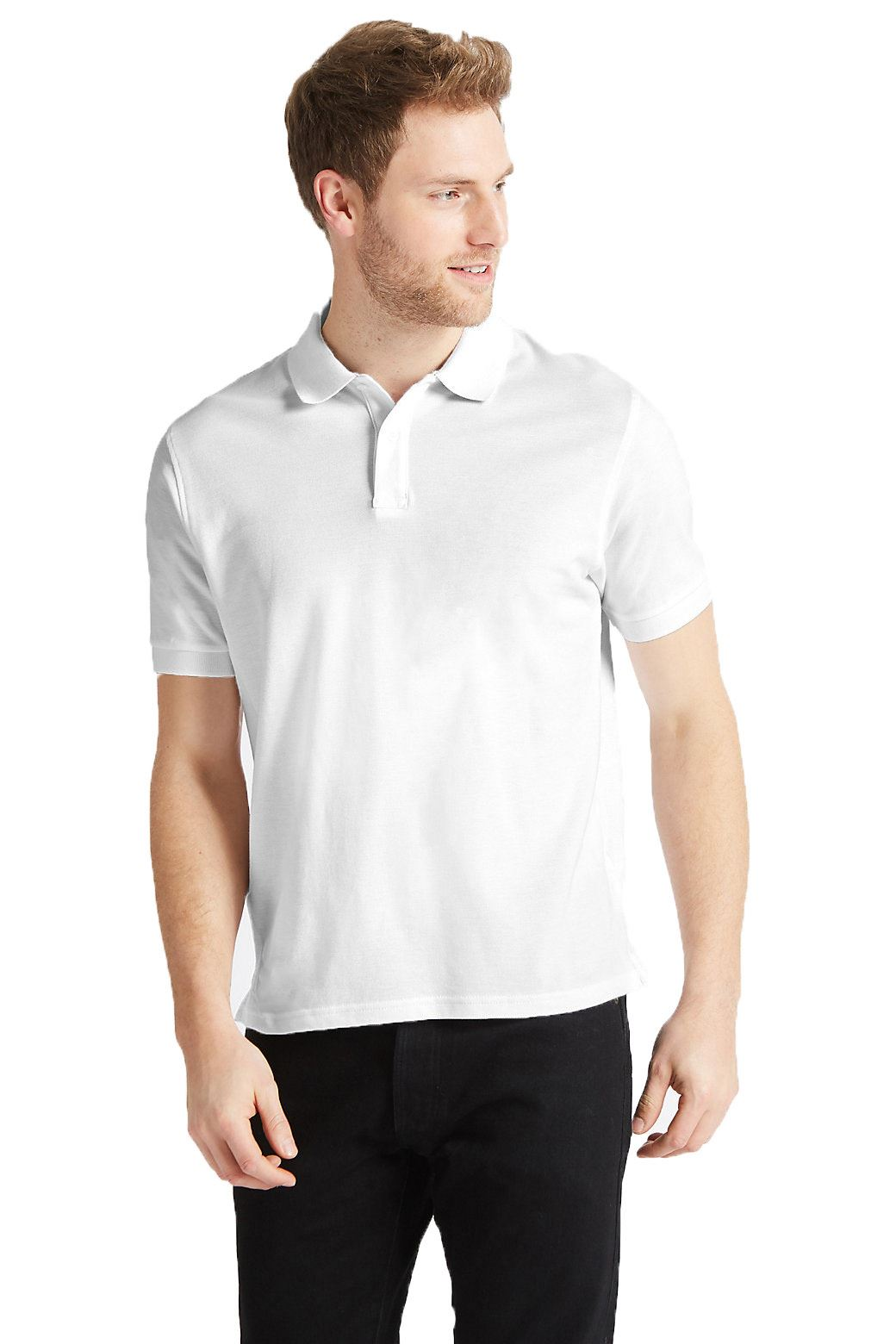 Ex-Marks-and-Spencer-Mens-Cotton-Pique-Polo-Shirt-NEW-Sizes-S-3XL thumbnail 31
