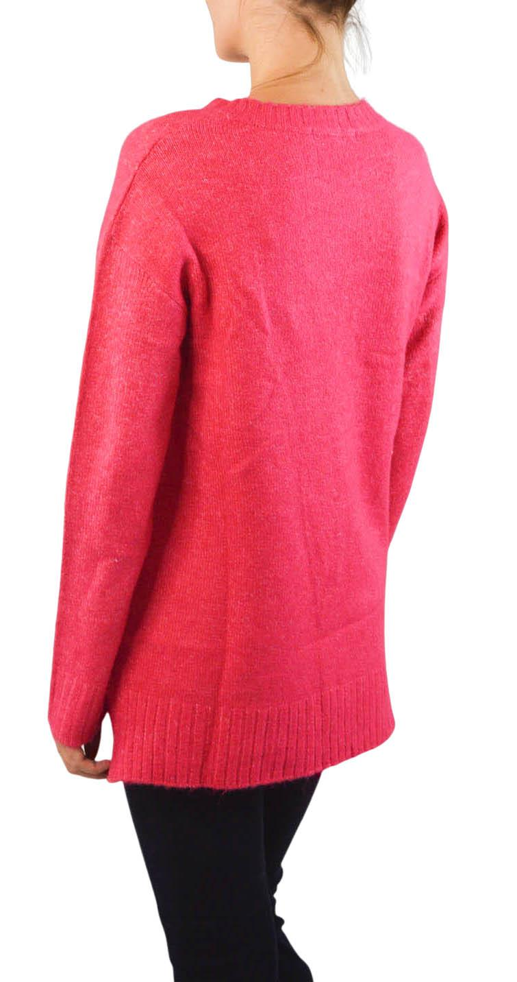 NEW-Ex-M-amp-S-Collection-Ladies-Relaxed-Fit-Round-Neck-Jumper-Pink-Purple-Ochre thumbnail 4