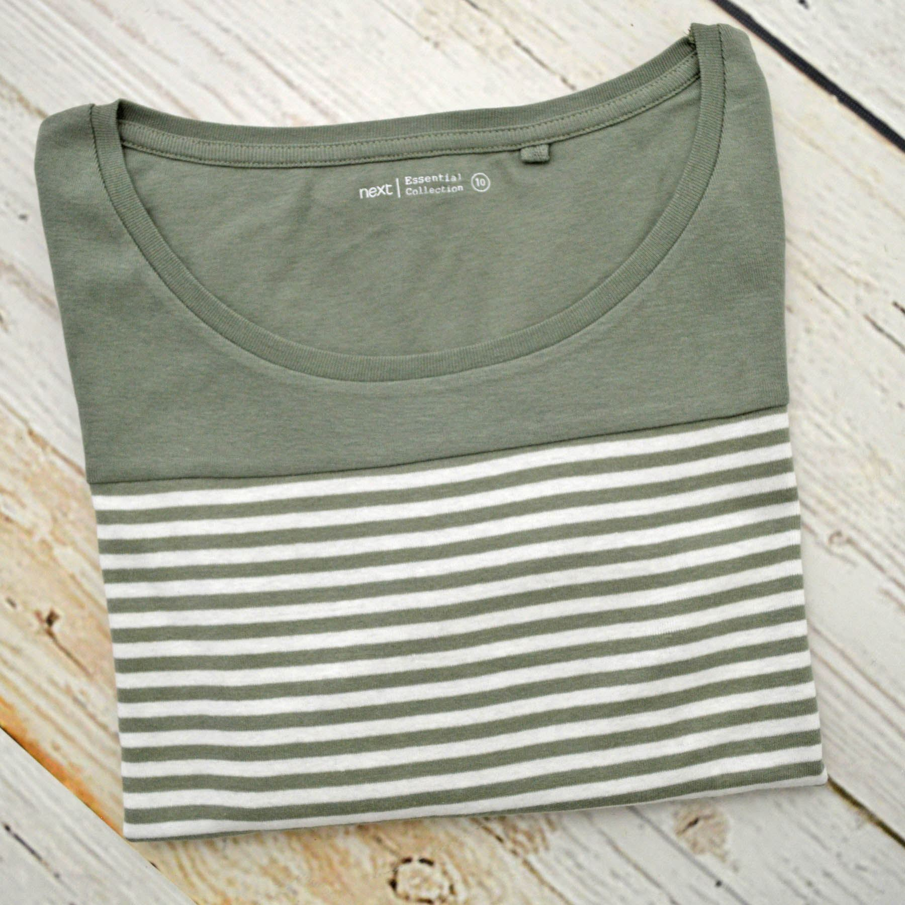 Ex-High-St-femme-encolure-degagee-a-rayures-en-Jersey-Top-T-shirt-a-manches-longues miniature 5