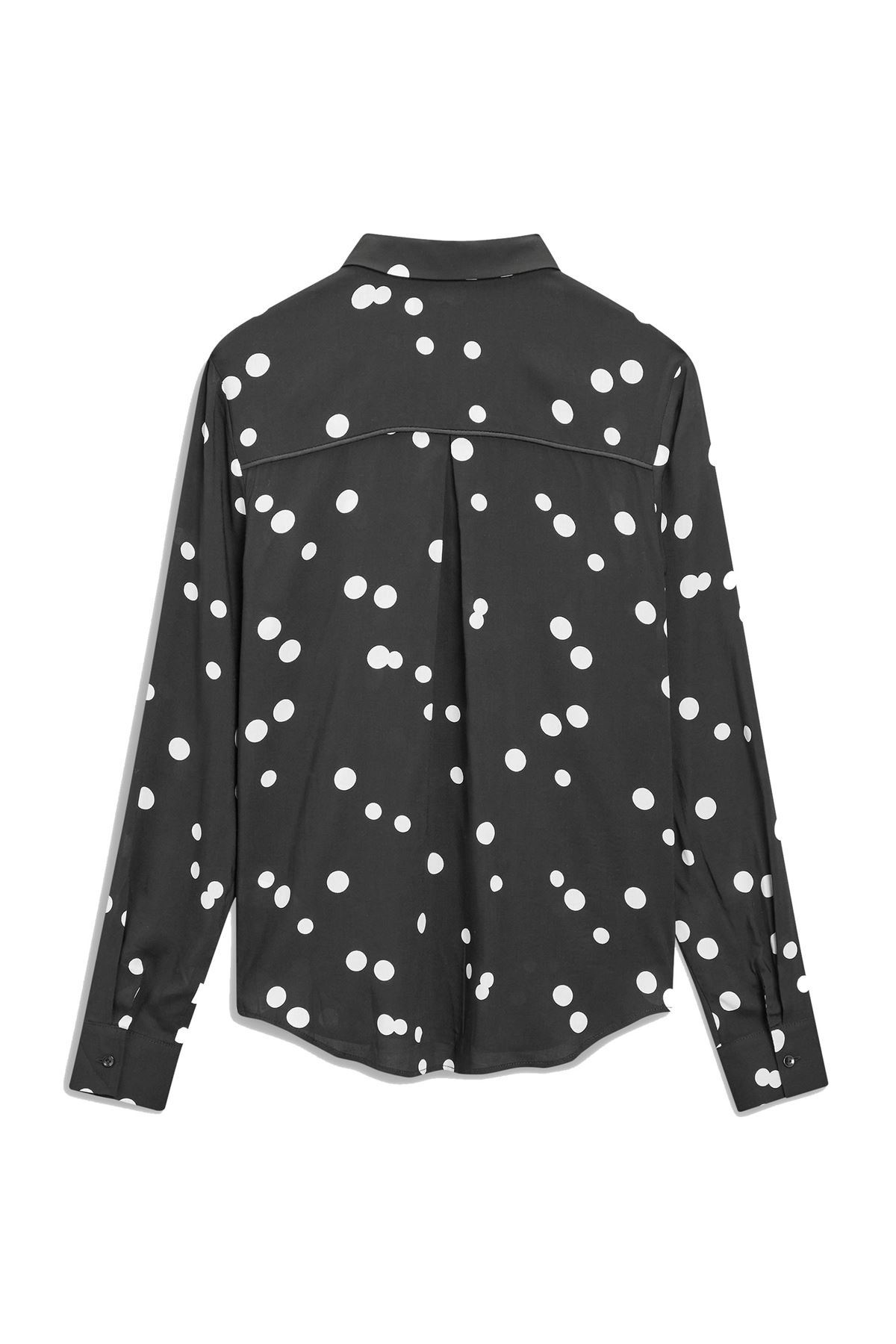NEXT-Black-White-Spotted-Long-Sleeve-Silky-Shirt-Blouse-SALE-Was-24 thumbnail 10