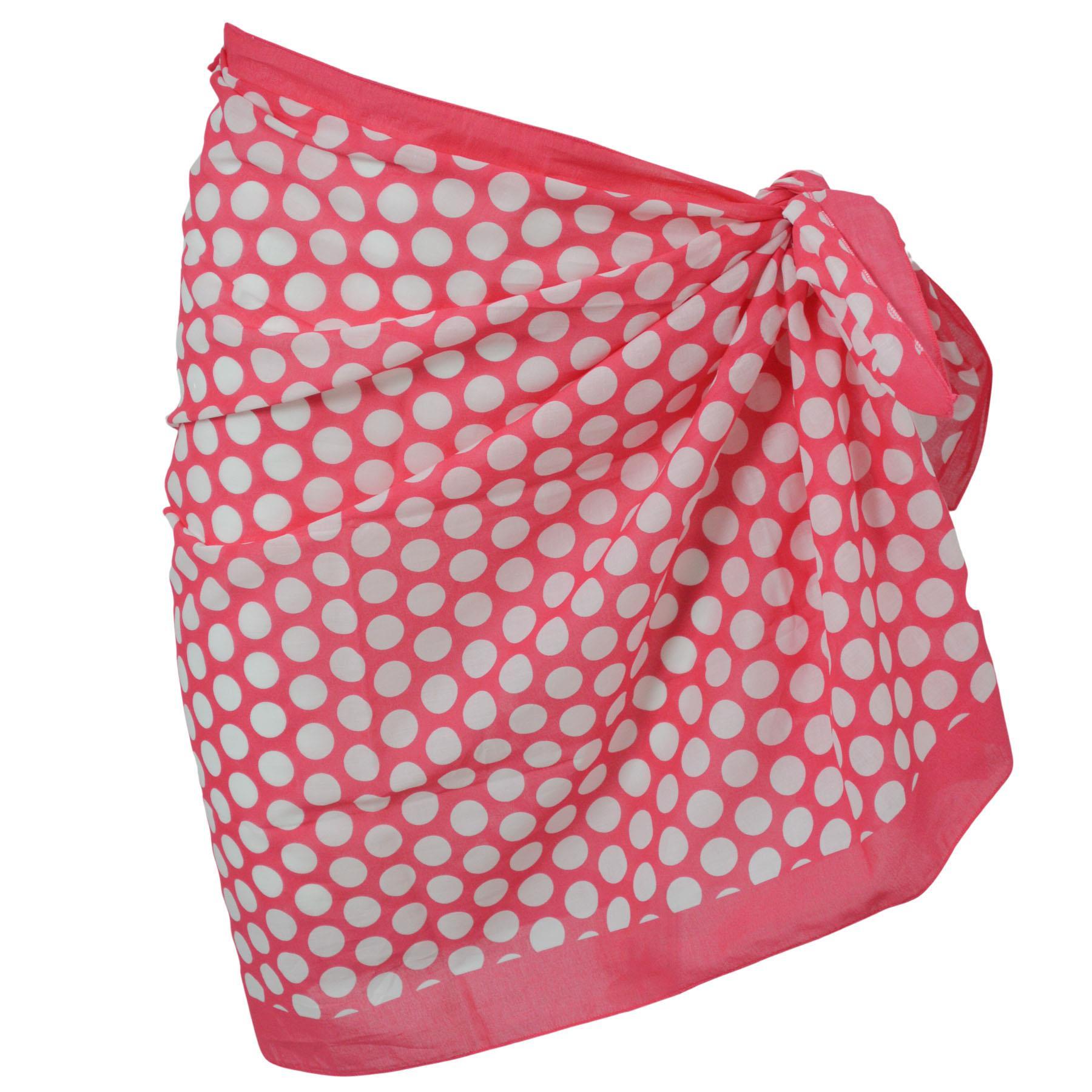 MARKS /& SPENCER Women/'s Hot Pink White Spot Beach Wrap SarongCLEARANCE