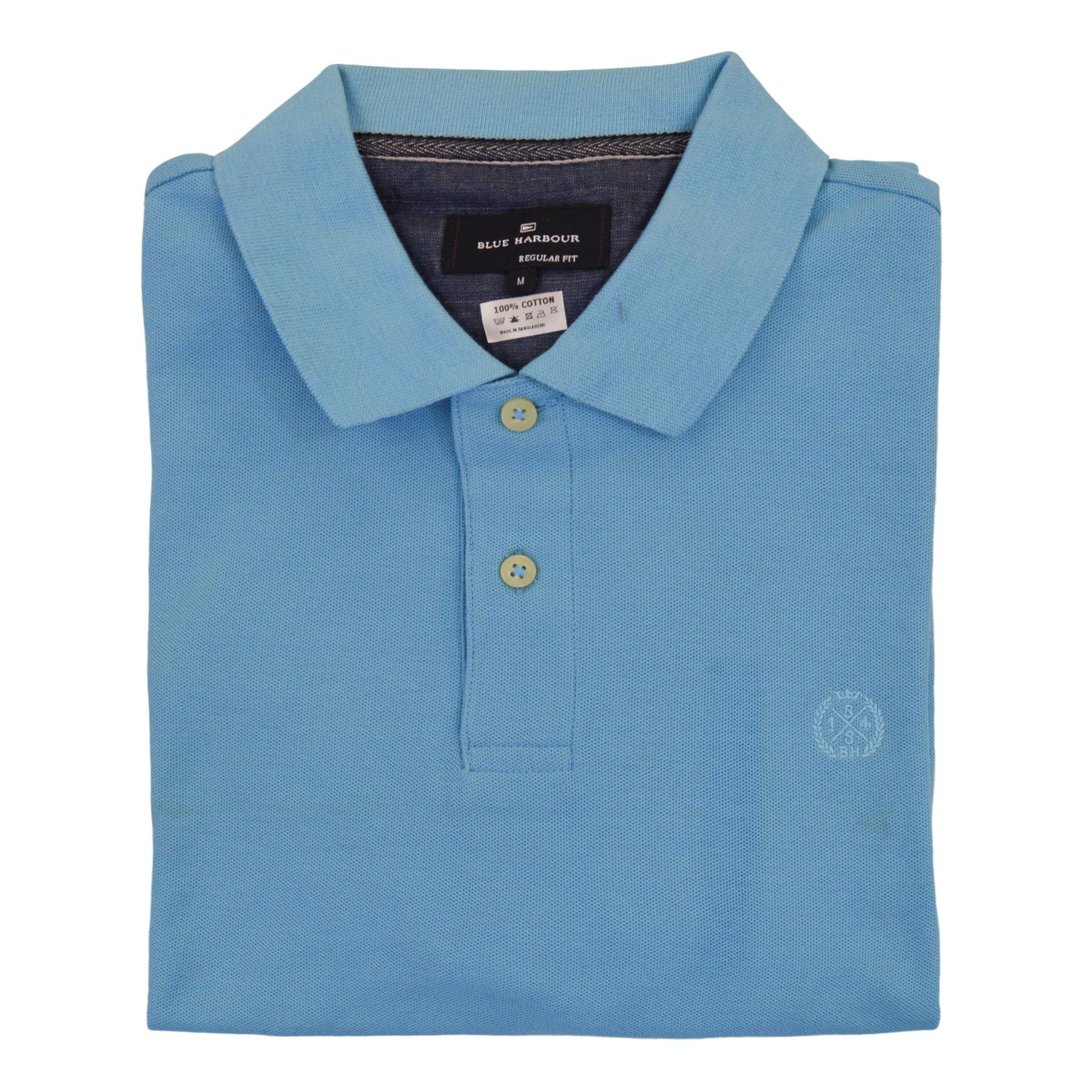 NEW-M-amp-S-Blue-Harbour-Mens-Polo-Shirt-Contrast-Stripe-Collar-Embroidered-Logo thumbnail 11