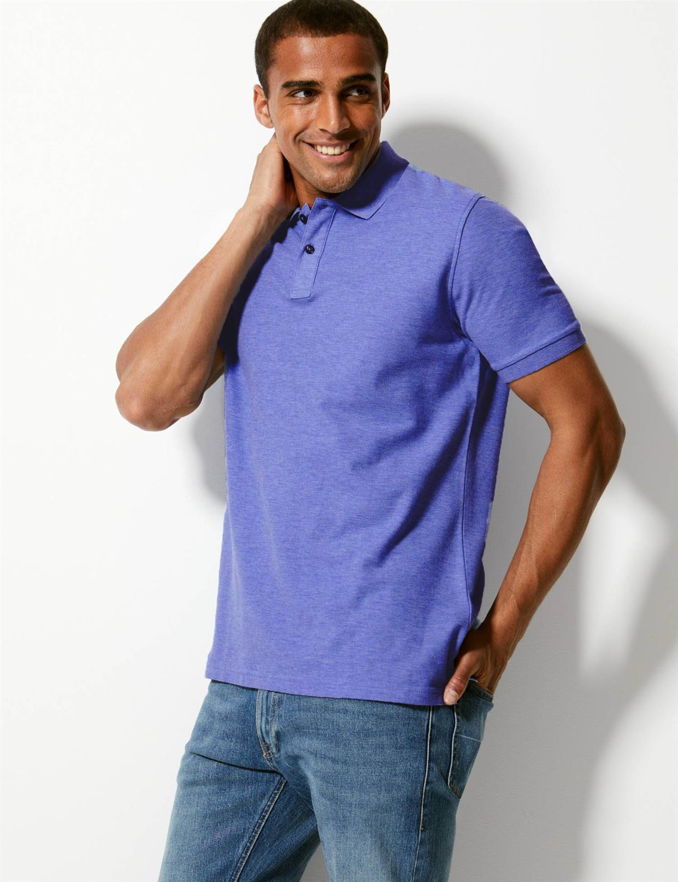Marks-amp-Spencer-Mens-Cotton-Pique-Polo-Shirt-Extra-Large-Sizes thumbnail 10