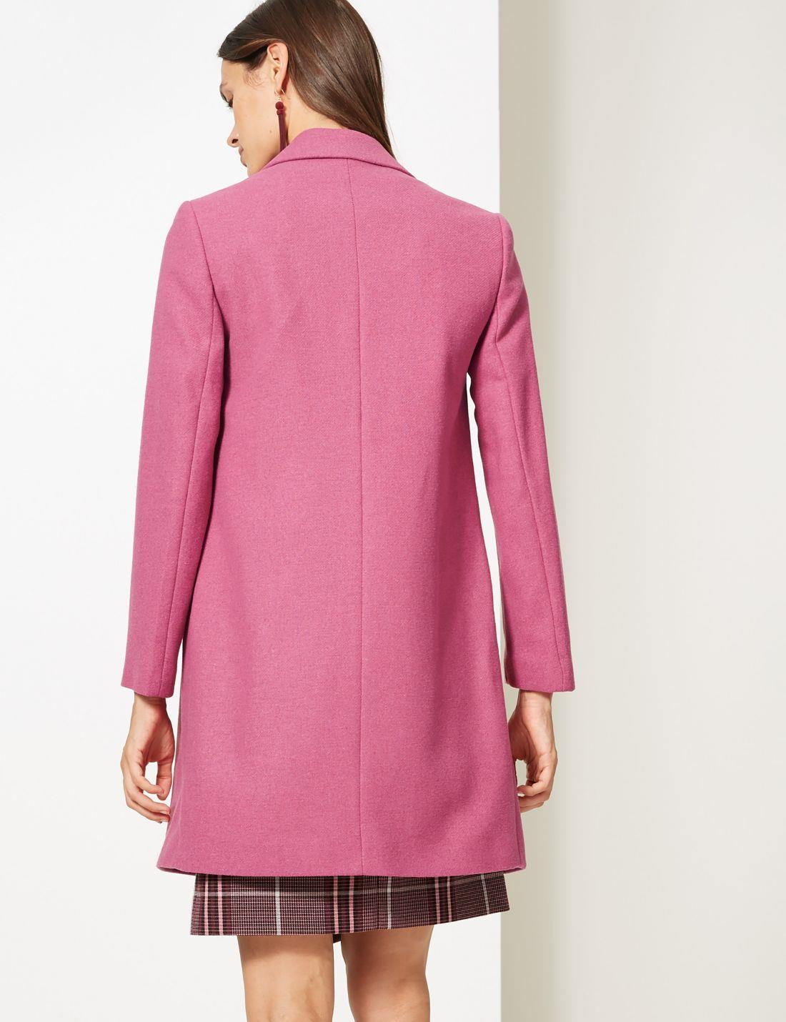 Marks-and-Spencer-Ladies-Size-20-M-amp-S-Pink-Wool-Blend-Coat-Womens thumbnail 16