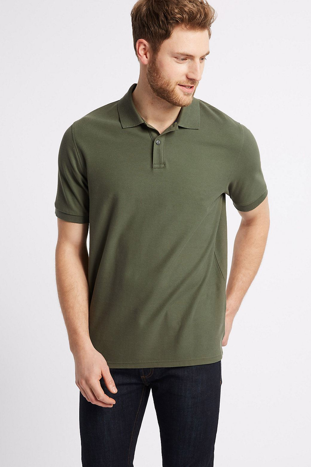 Ex-Marks-and-Spencer-Mens-Cotton-Pique-Polo-Shirt-NEW-Sizes-S-3XL thumbnail 12
