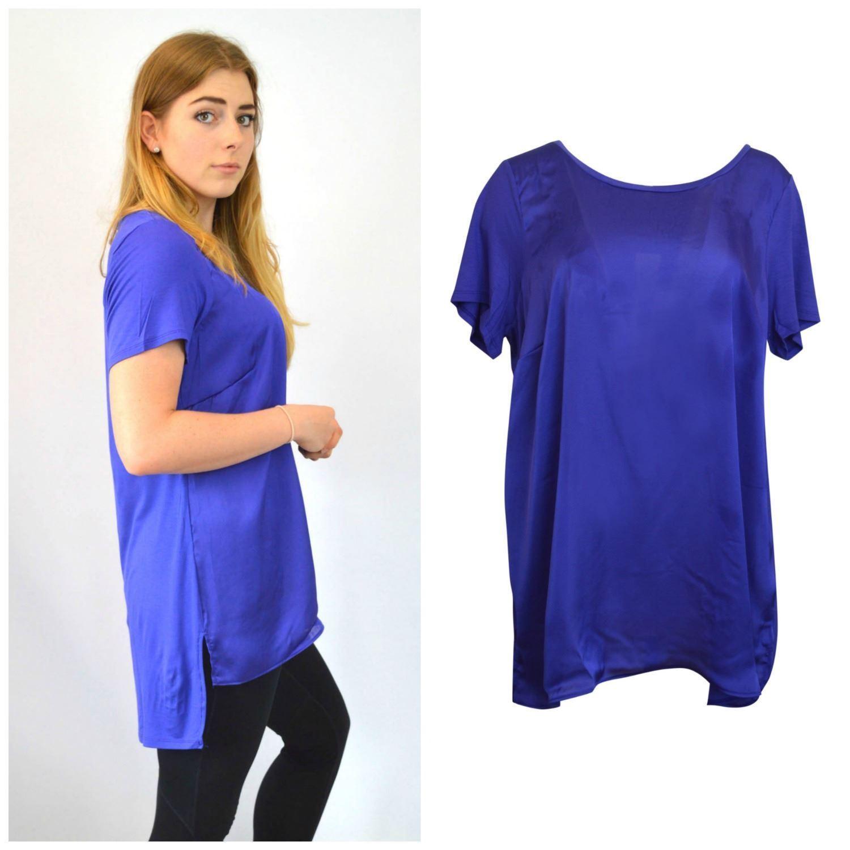 New Woman ex Evans Plus Size  Loose Fit Light Blue Shirt Top Blouse Size 18-30
