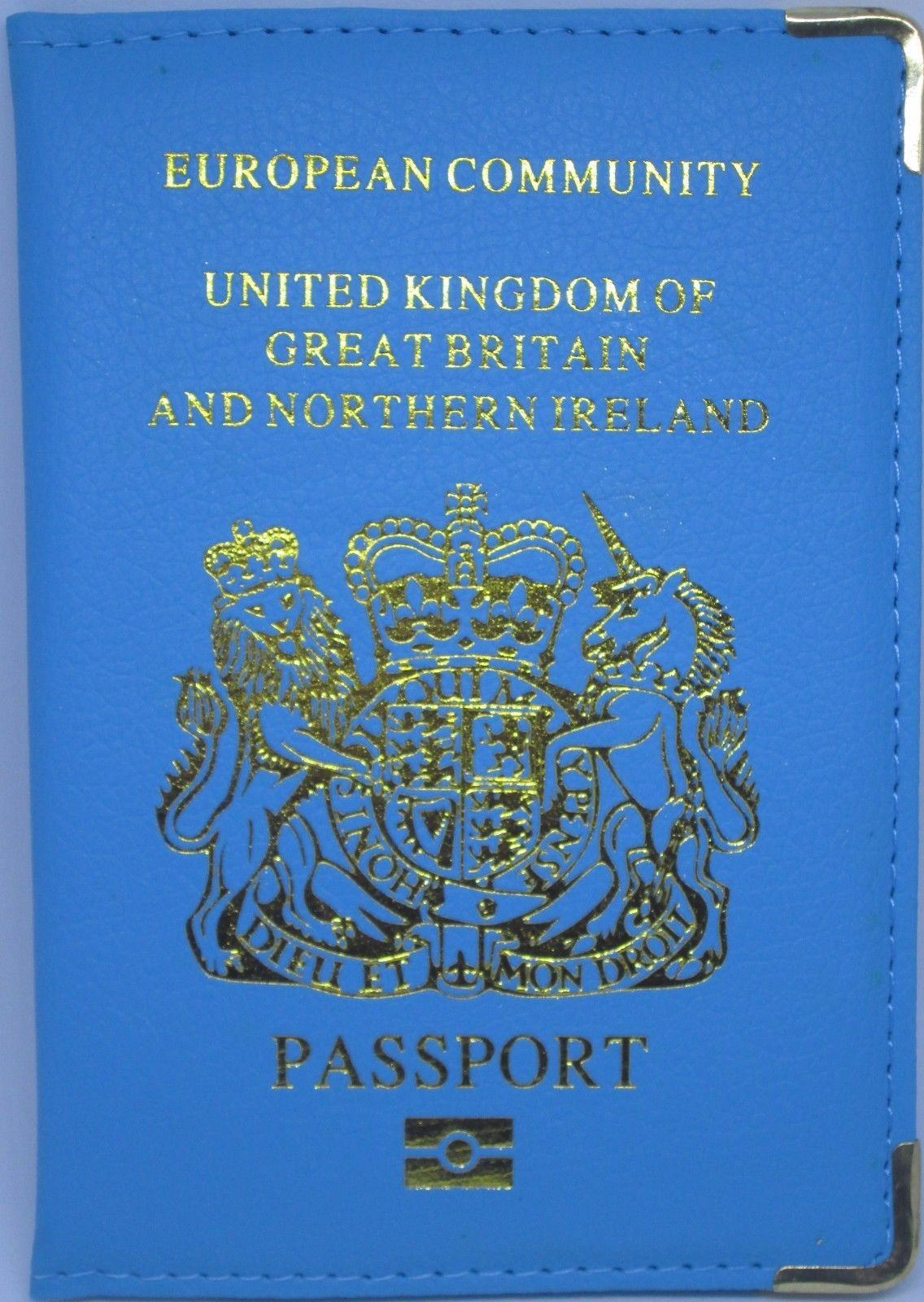 Uk European Travel Passport Holder Cover Leather