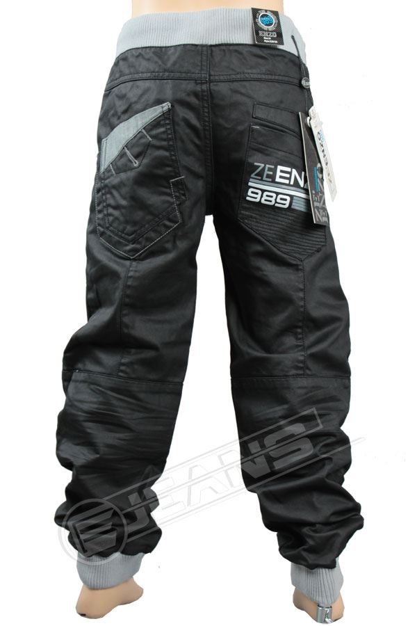 Nouveau-Enzo-Designer-Jean-Garcon-Junior-Kids-cotelee-a-revers-Denim-Jogger-elegant-Pantalon miniature 11