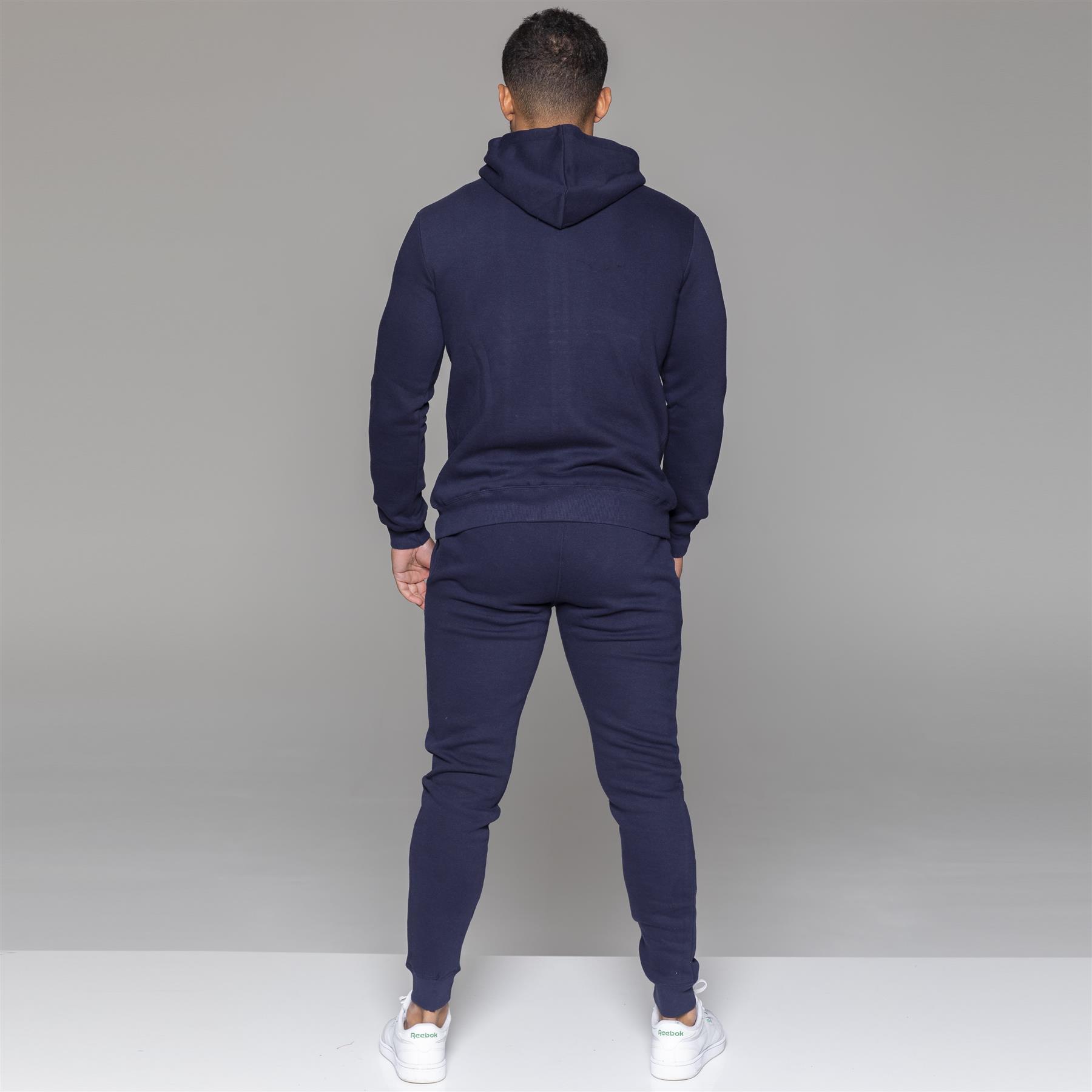 miniatura 23 - Tuta Integrale da Uomo MyT Set Felpa Con Cappuccio E Cerniera Felpa Con Cappuccio Jogging Bottoms Pantaloni Sportivi