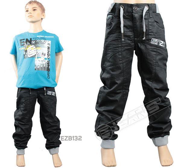 Nouveau-Enzo-Designer-Jean-Garcon-Junior-Kids-cotelee-a-revers-Denim-Jogger-elegant-Pantalon miniature 9