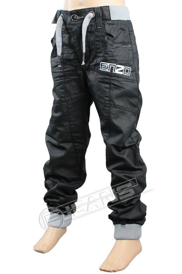 Nouveau-Enzo-Designer-Jean-Garcon-Junior-Kids-cotelee-a-revers-Denim-Jogger-elegant-Pantalon miniature 12