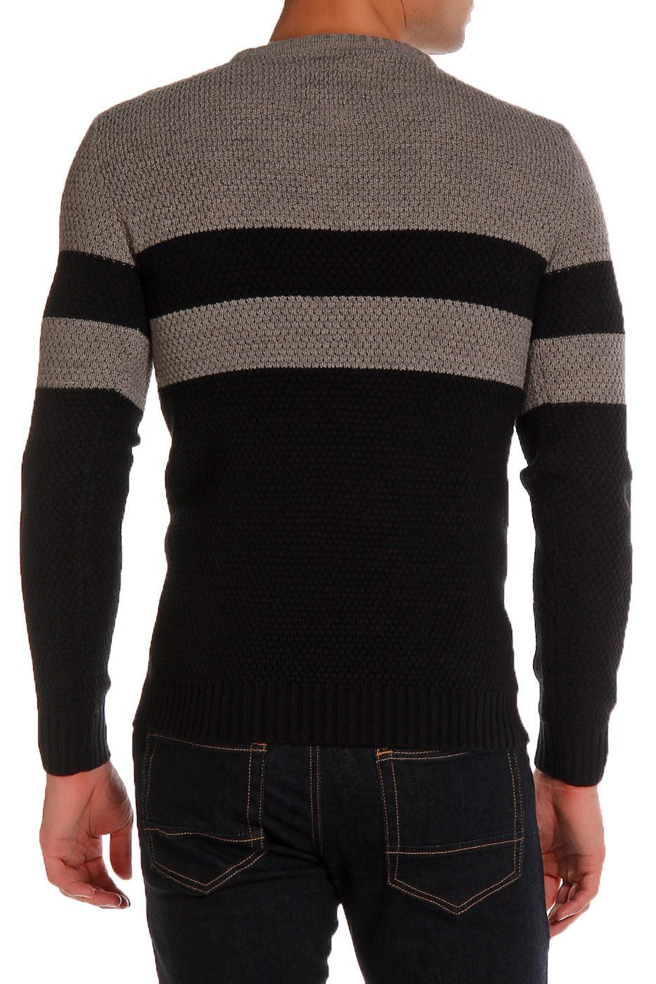 Le-Shark-Designer-Mens-Jumper-Crew-Neck-Wool-Fashion-Knitwear-Sweater thumbnail 5