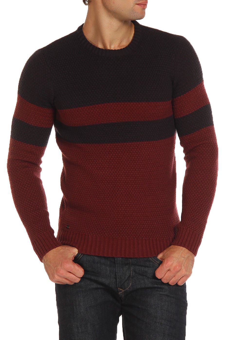 Le-Shark-Designer-Mens-Jumper-Crew-Neck-Wool-Fashion-Knitwear-Sweater thumbnail 3