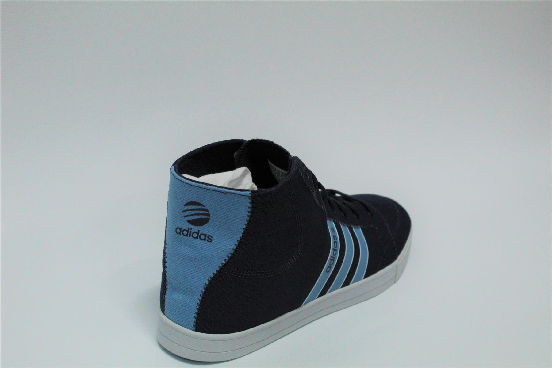 Details about adidas Neo Mens Trainers Shoes Footwear Laces up Hi Tops Sports Ortholite Q26020