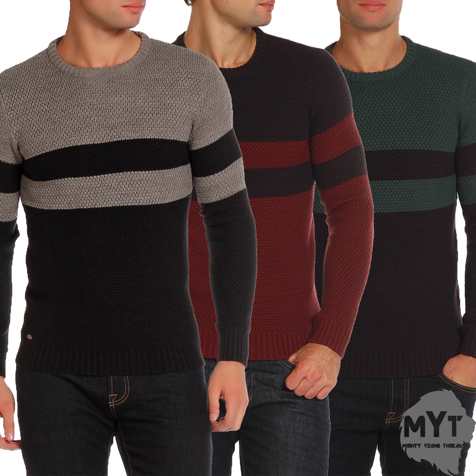 Le-Shark-Designer-Mens-Jumper-Crew-Neck-Wool-Fashion-Knitwear-Sweater thumbnail 7