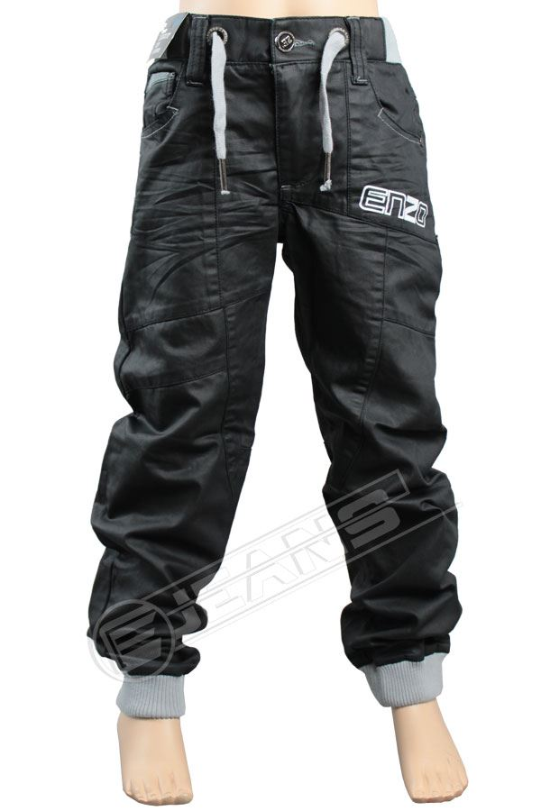 Nouveau-Enzo-Designer-Jean-Garcon-Junior-Kids-cotelee-a-revers-Denim-Jogger-elegant-Pantalon miniature 10