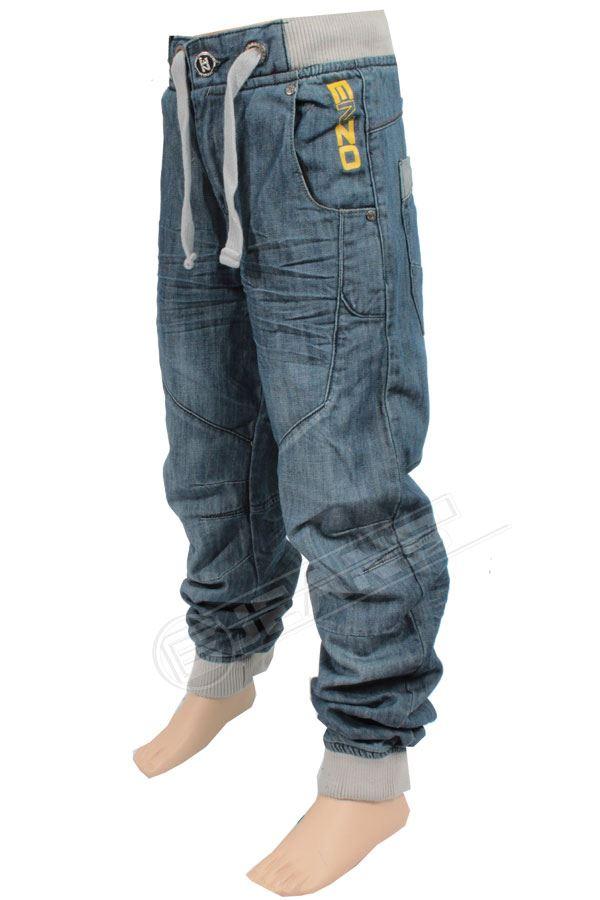 Nouveau-Enzo-Designer-Jean-Garcon-Junior-Kids-cotelee-a-revers-Denim-Jogger-elegant-Pantalon miniature 16