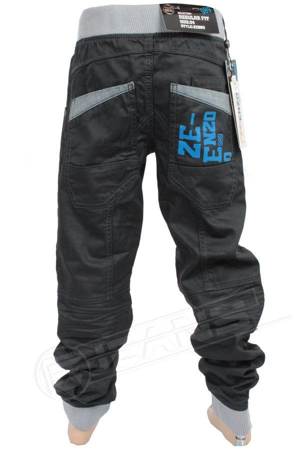 Nouveau-Enzo-Designer-Jean-Garcon-Junior-Kids-cotelee-a-revers-Denim-Jogger-elegant-Pantalon miniature 5