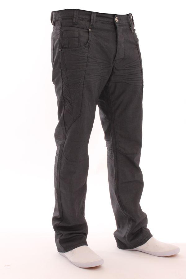 New Mens Enzo Straight Leg Cuffed Denim Joggers Stylish Regular