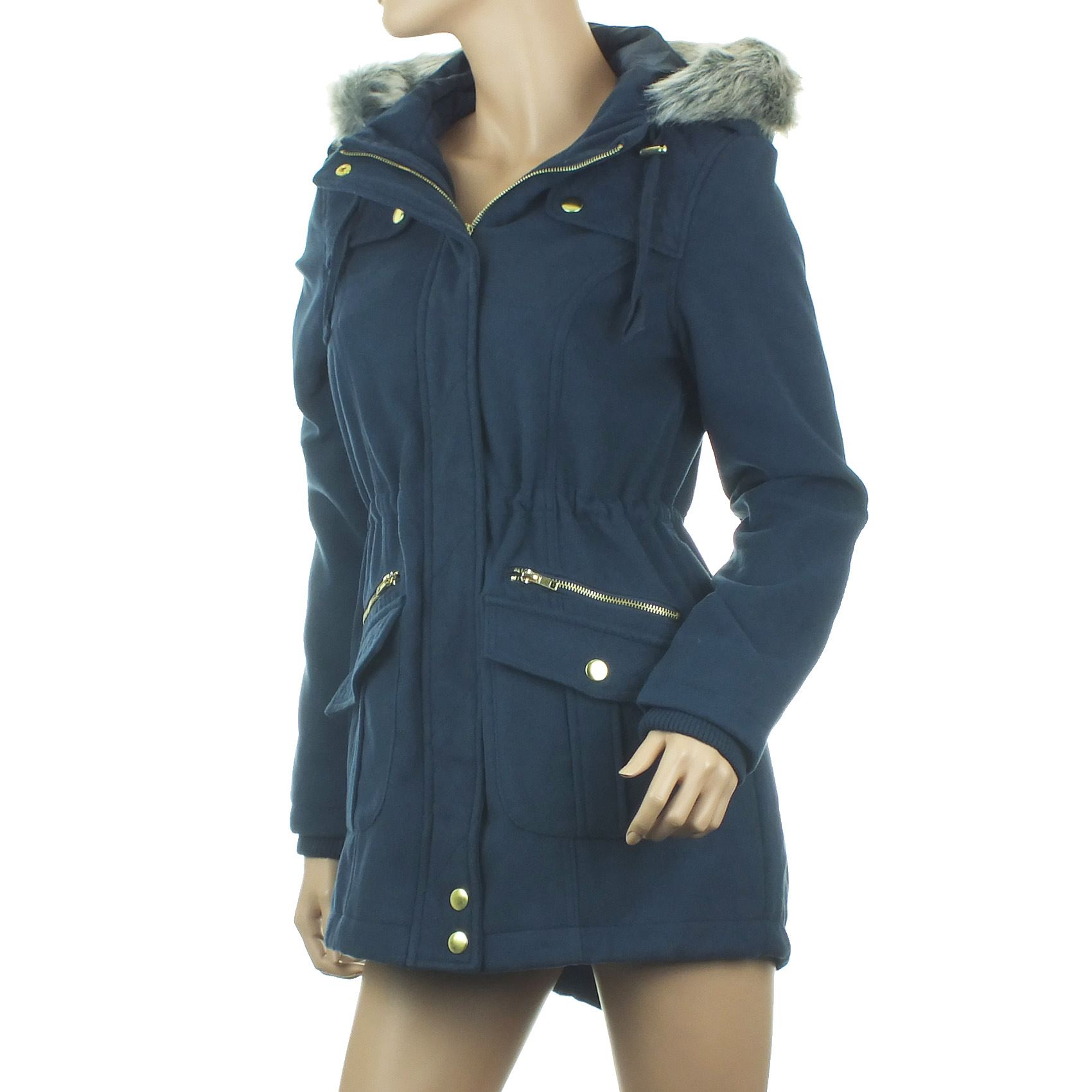 New listing Womens/Ladies Winter Coat Hooded Quilted/Padded Parka Coat Size 16 Brand New YOU MAY BE ABLE TO SEE BITS OF FUR ON THE COAT IN PICTURE. THIS HAS COME FROM THE FUR TRIM ON THE HOOD Women's black parka coat Size 16 Quilted/Padded.