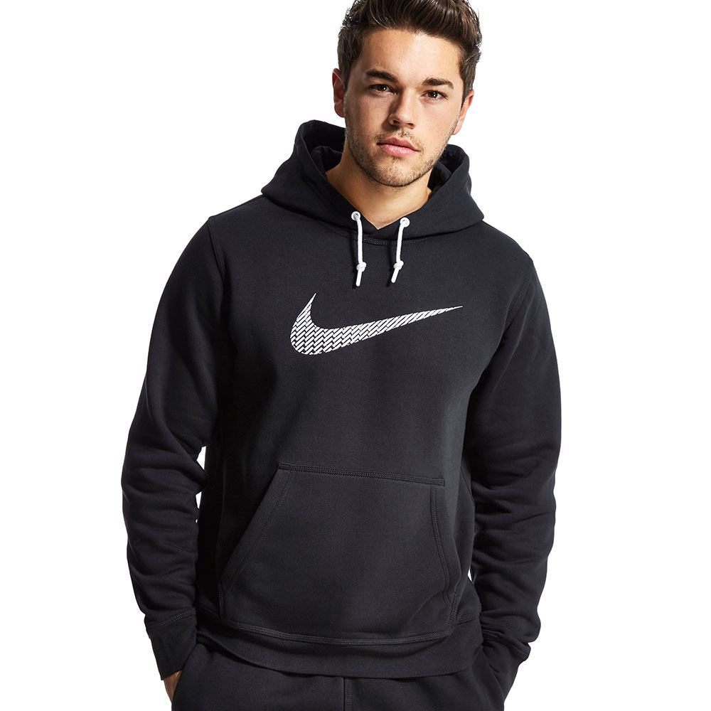 0811bb72e61a Mens Nike Swoosh Hoodie Black Navy Grey Fleece Hoody Hooded Sweatshirt