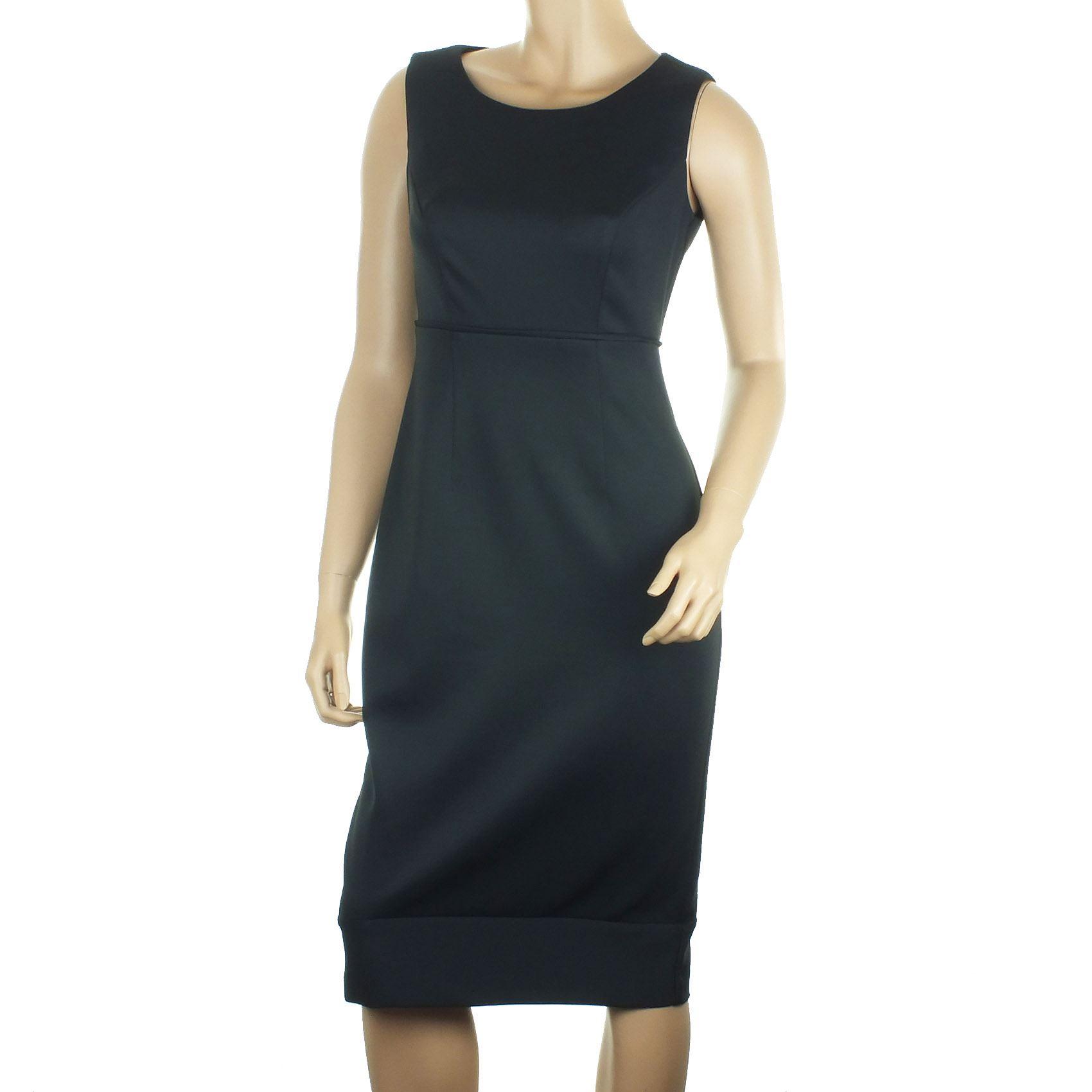 Black dress debenhams - Ex Debenhams Black Dress Pencil Wiggle Scuba Midi Party Ladies Stretch Size 8 20