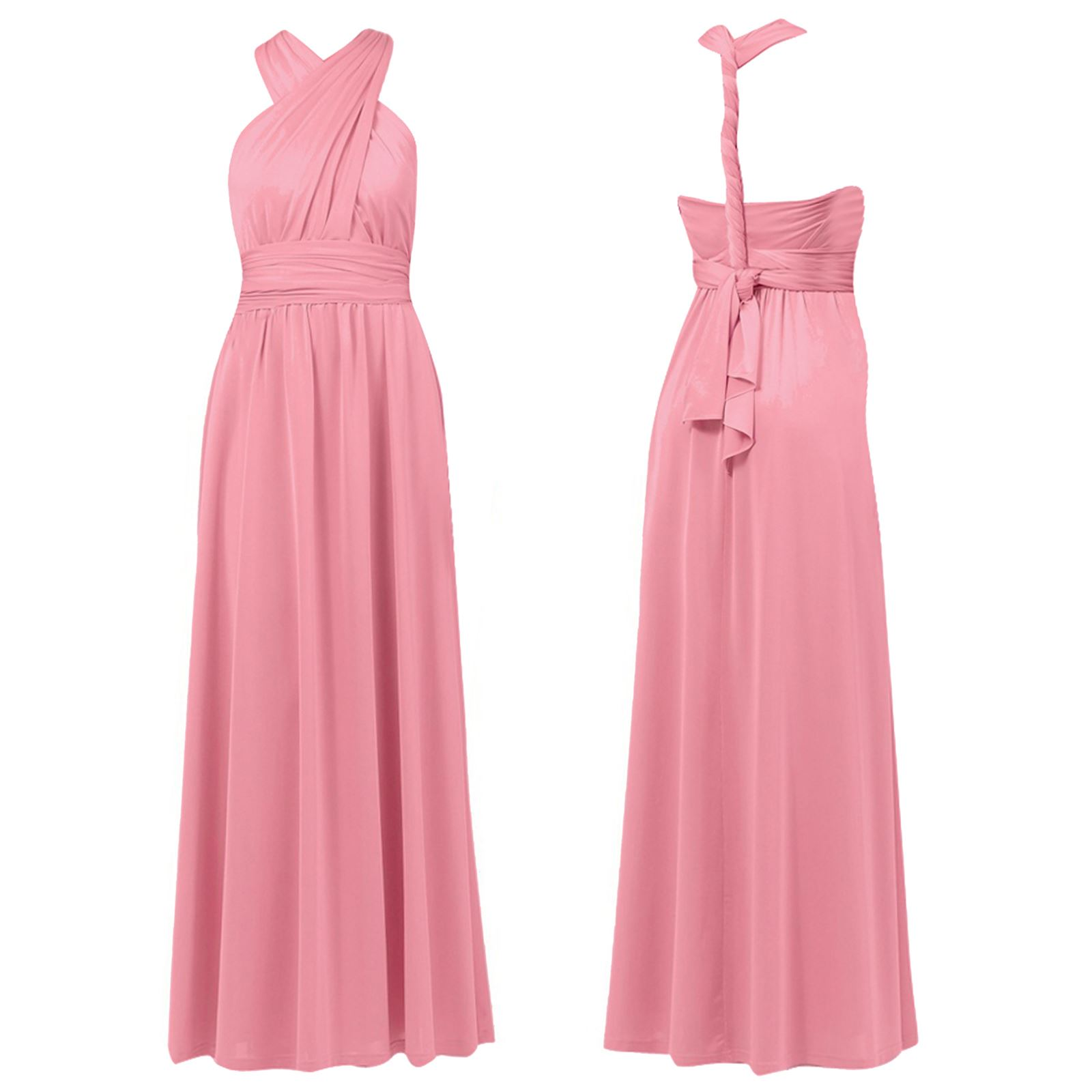 Ex debut multiway maxi dress evening prom bridesmaid outfit pink ex debut multiway maxi dress evening prom bridesmaid pink debenhams 8 10 16 18 ombrellifo Image collections