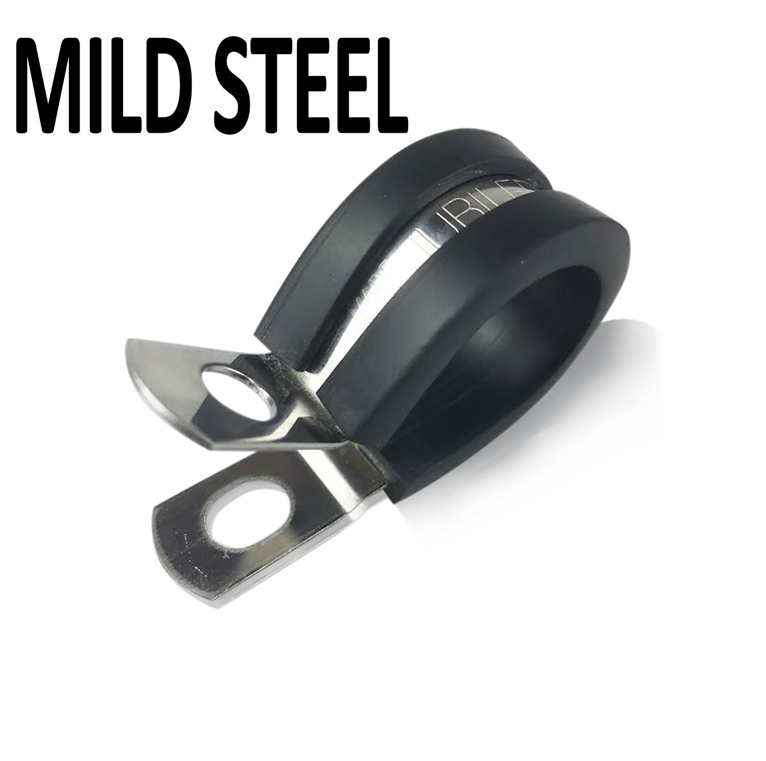 Steel Pipe Clips : Rubber lined p clips cable mounting hose pipe clamp