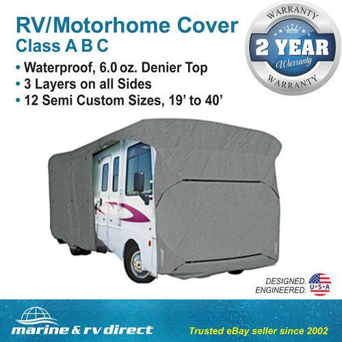 Waterproof Rv Cover Motorhome Camper Travel Trailer 37 38 39 Class A B C Ebay